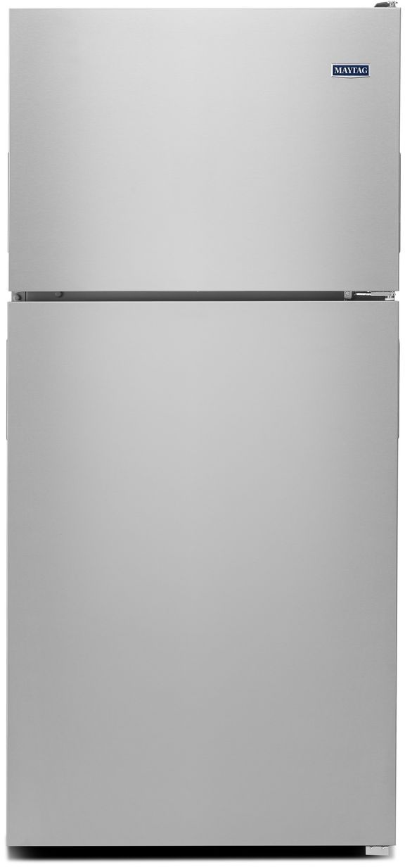 Maytag 18 Cu Ft Top Freezer Refrigerator Monochromatic Stainless