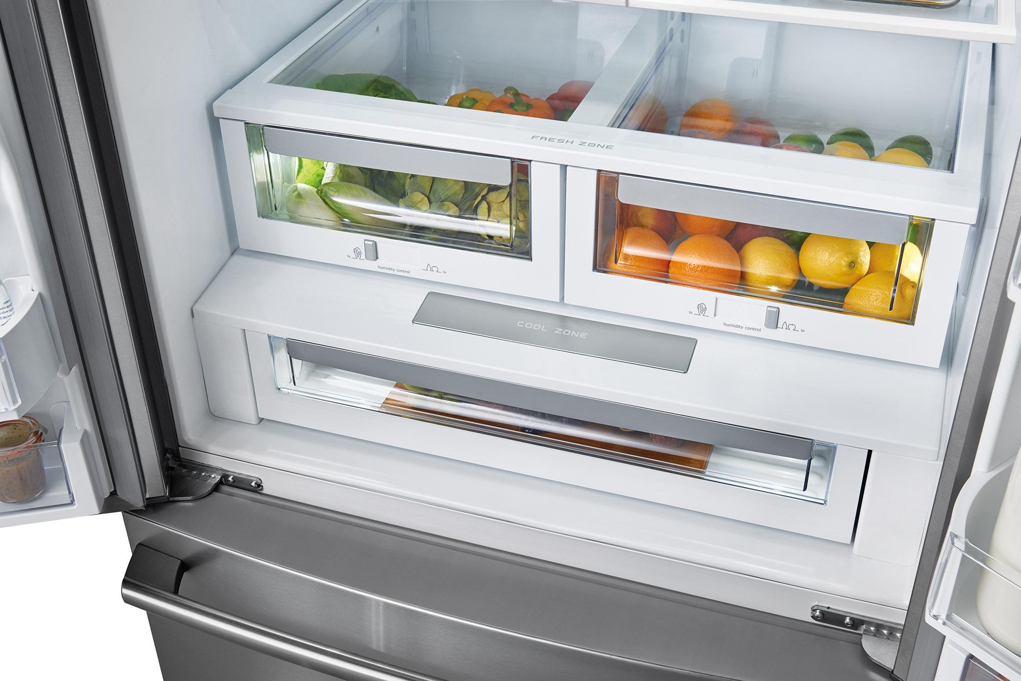 224 Cu Ft Counter Depth French Door Refrigerator Stainless Steel