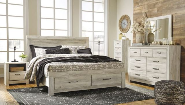 Signature Design By Ashley 174 Bellaby Whitewash 3 Piece King Bedroom Set B331 58 95 56s 31 36