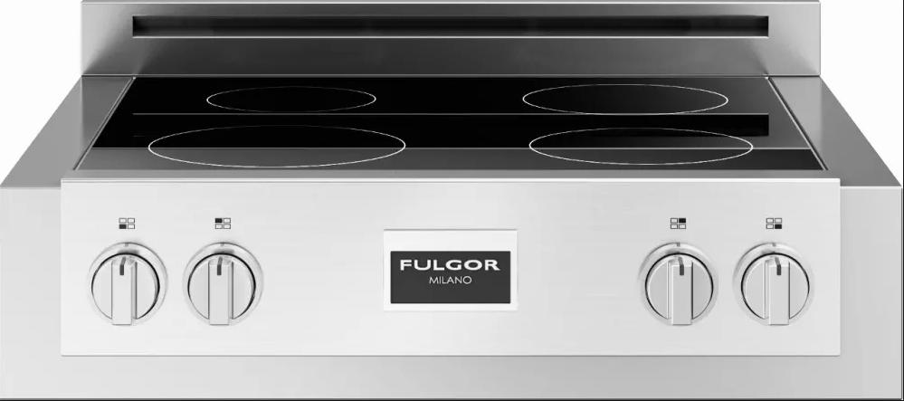 electric range top 40 inch fulgor milano sofia 600 series 30 electric rangetop atherton appliance kitchens