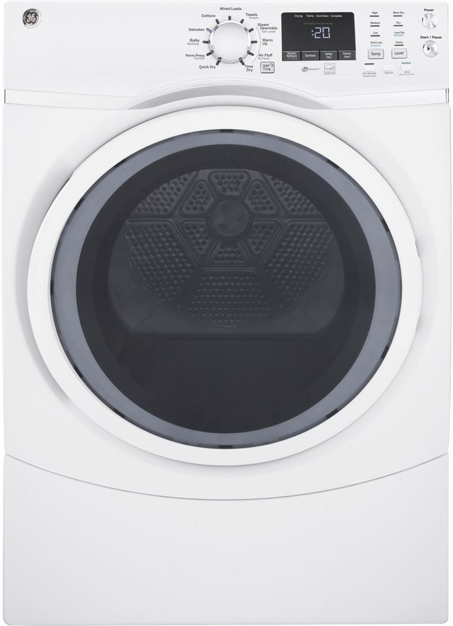 Ge 174 7 5 Cu Ft White Front Load Electric Dryer