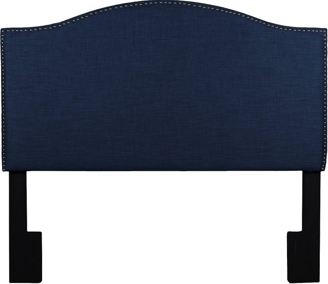 Accentrics Home Greyson Navy Blue Full Queen Upholstered Headboard 320 A3071 250 685 Levin Furniture Pennsylvania And Ohio