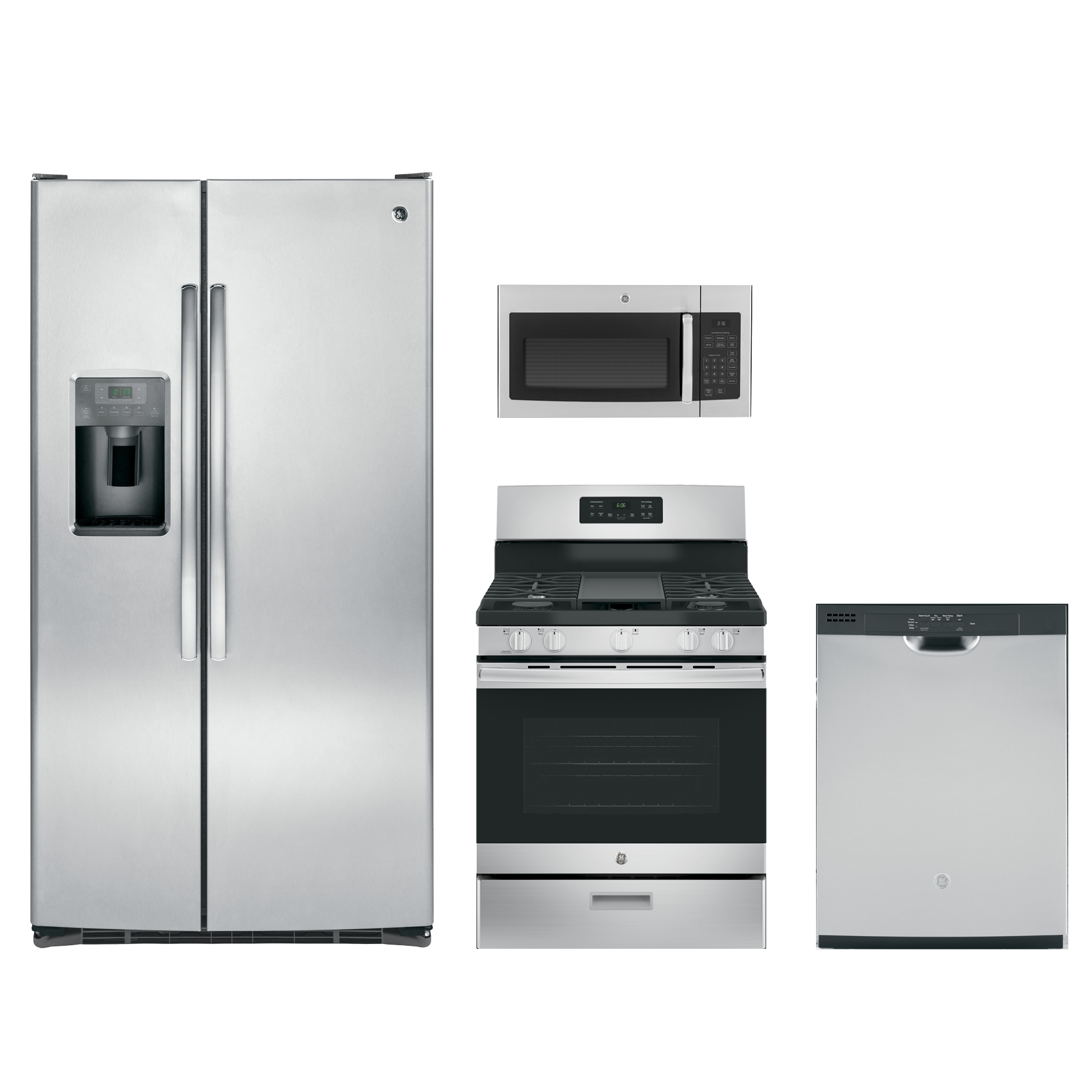Ge 174 4 Piece Kitchen Package Stainless Steel