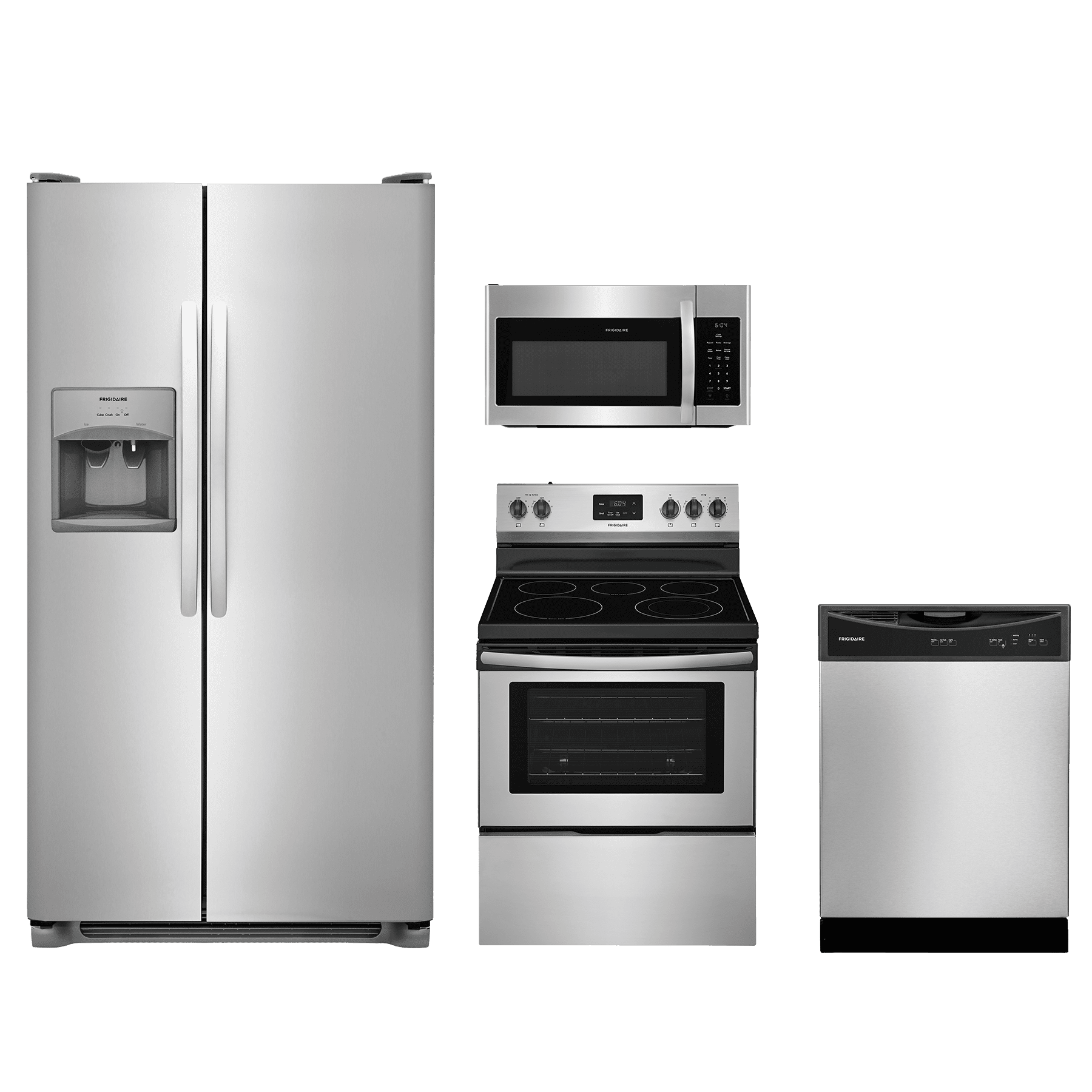 Best Kitchen Appliance Brands: Frigidaire® 4 Piece Kitchen Package-Stainless Steel-FRKITFFEF3052TS Shop Appliances From Top