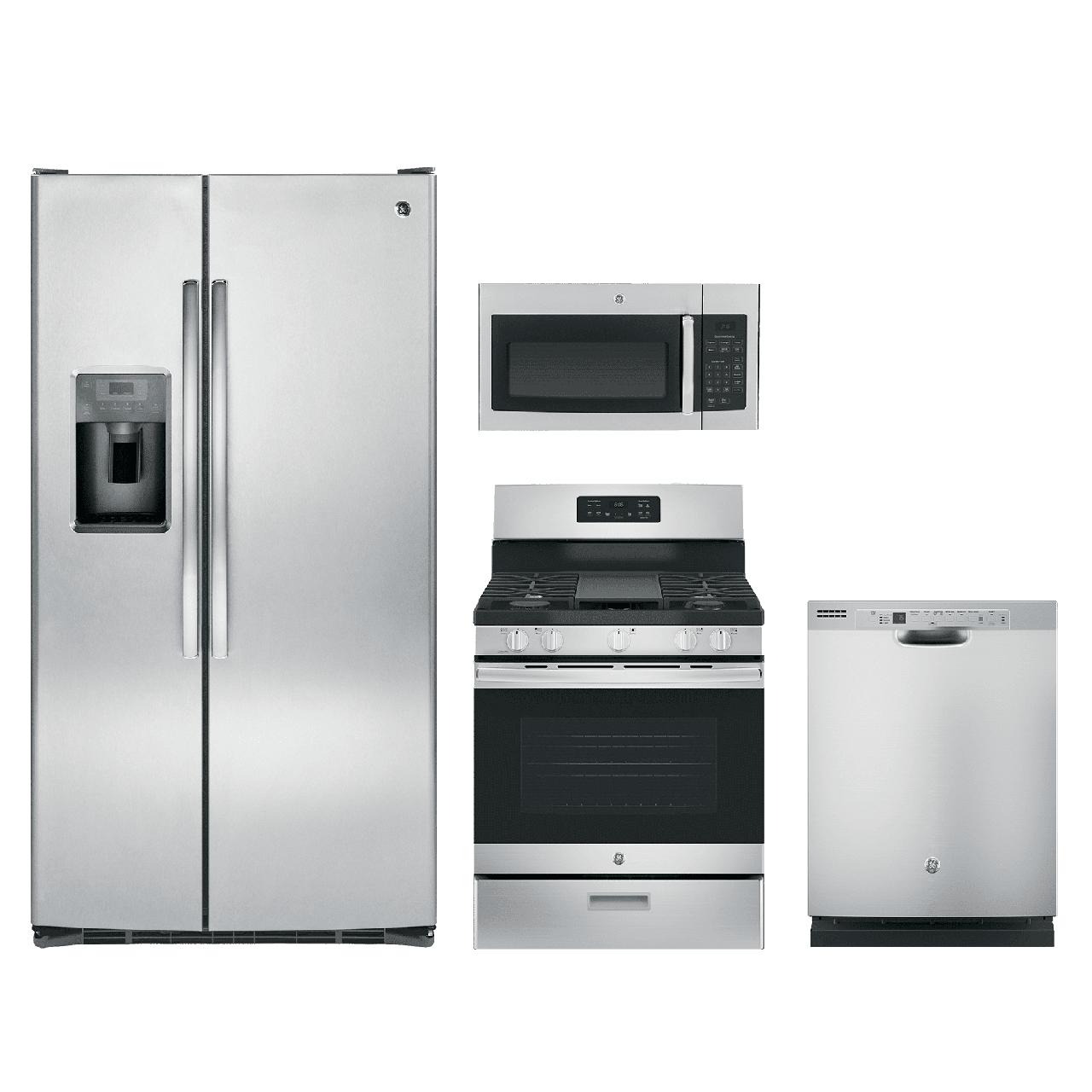 GE® 4 Piece Kitchen Package Stainless Steel GEKITJGBS66REKSS
