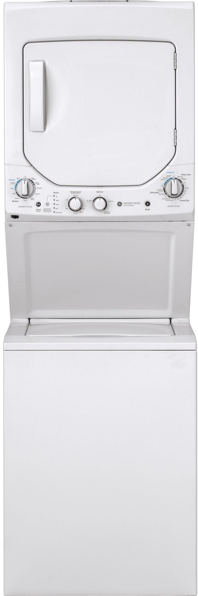 Ge 174 Unitized Spacemaker 174 Stack Laundry White On White