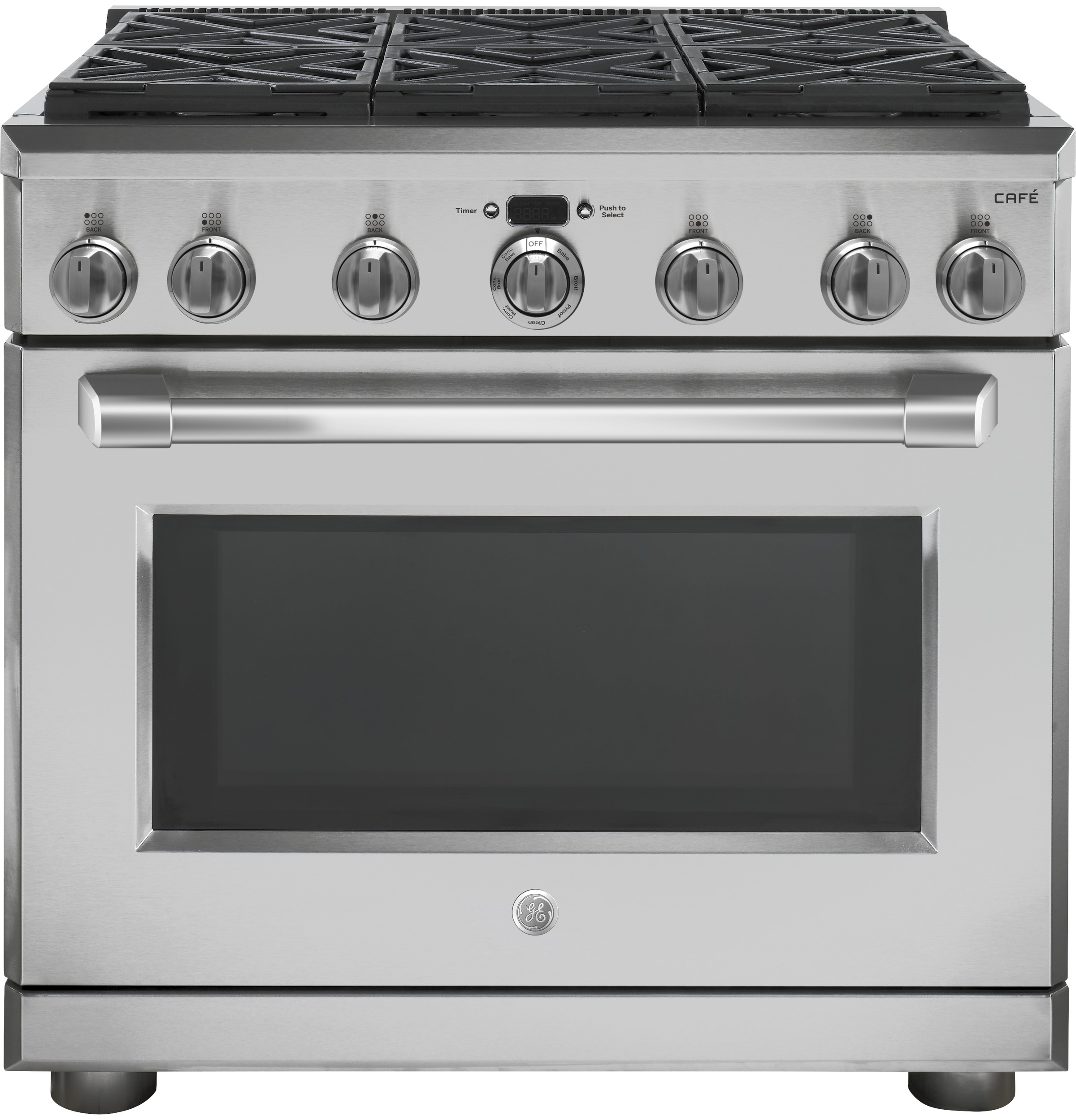 "Café™ 36"" Pro Style Dual Fuel Range-Stainless Steel-C2Y366SELSS"