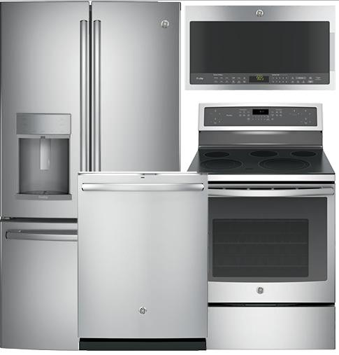 GE Profile Kitchen Package PFE28KSKSS - PB911SJSS - PDT825SSJSS -  PVM9005SJSS -GE-PROFILE-PACKAGE