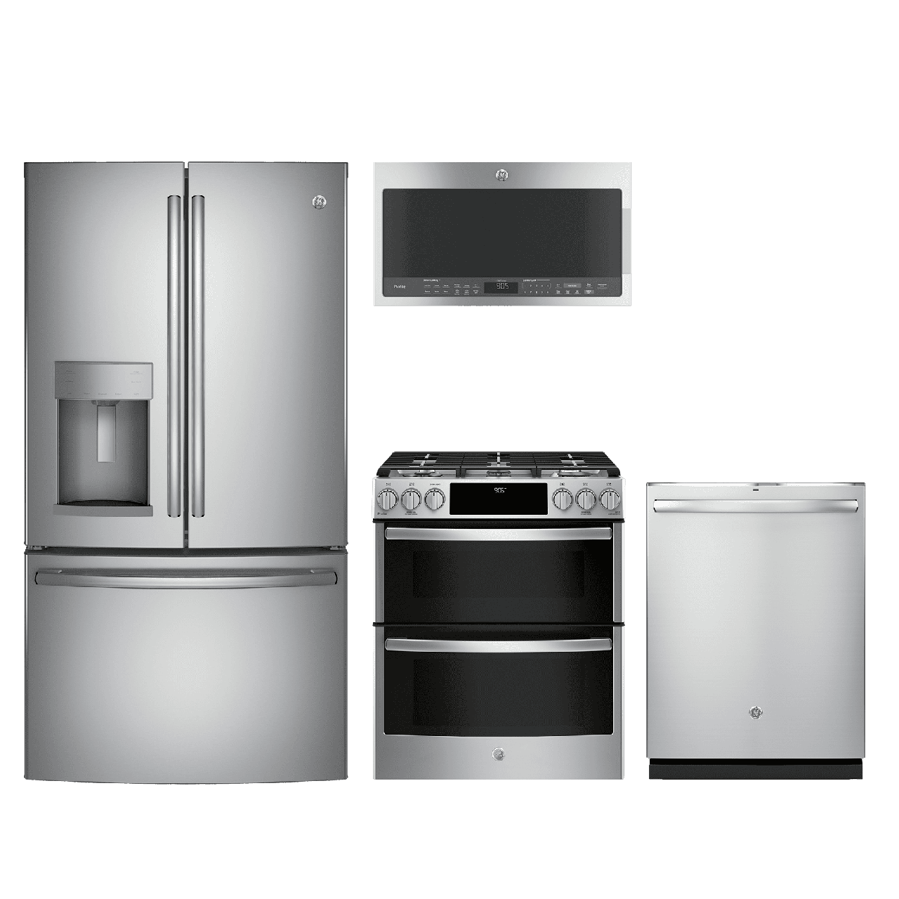 GE® Profile™ 4 Piece Kitchen Package-Stainless Steel