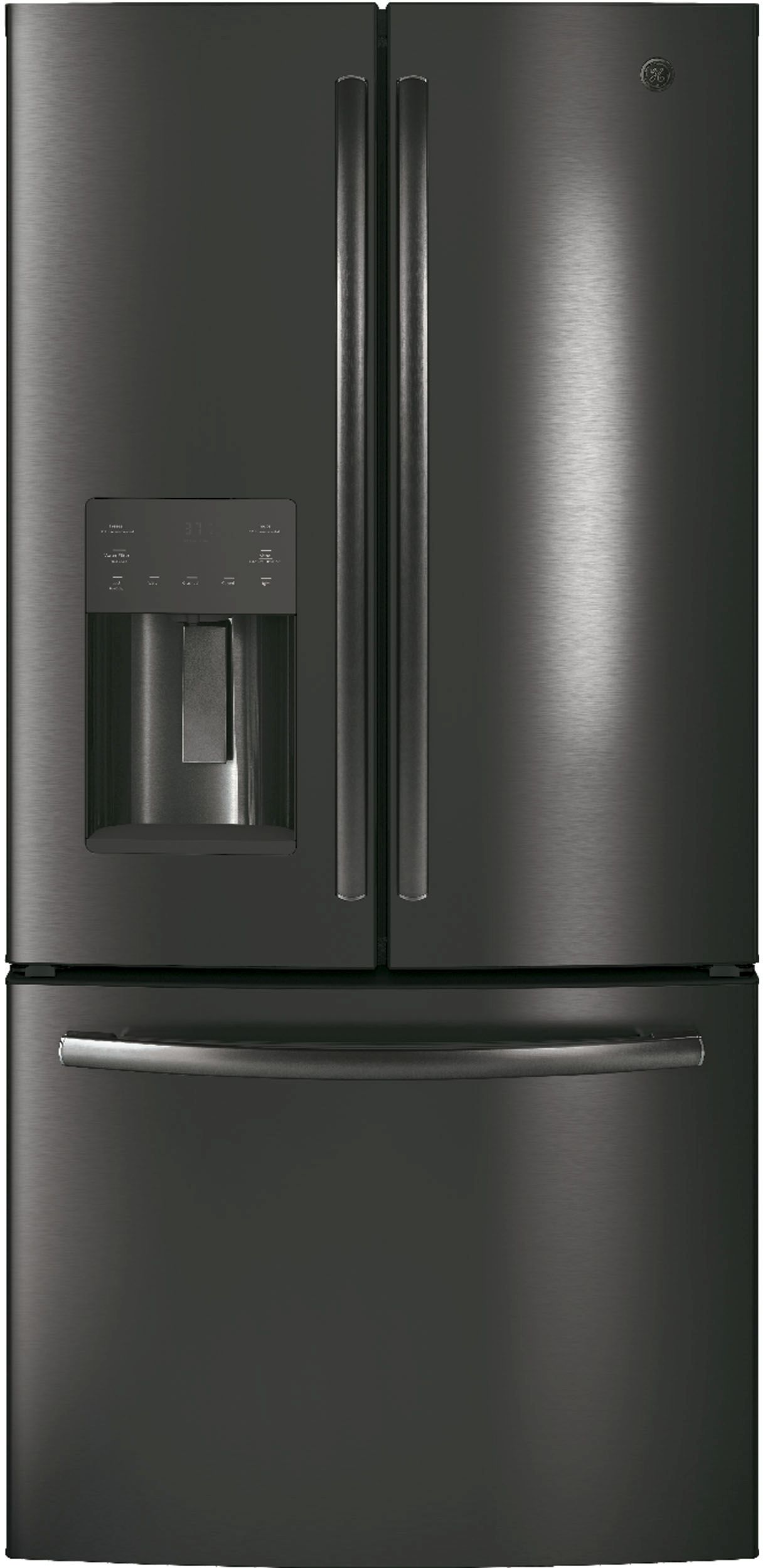French door refrigerator ge 238 cu ft french door refrigerator black stainless steel gfe24jblts rubansaba