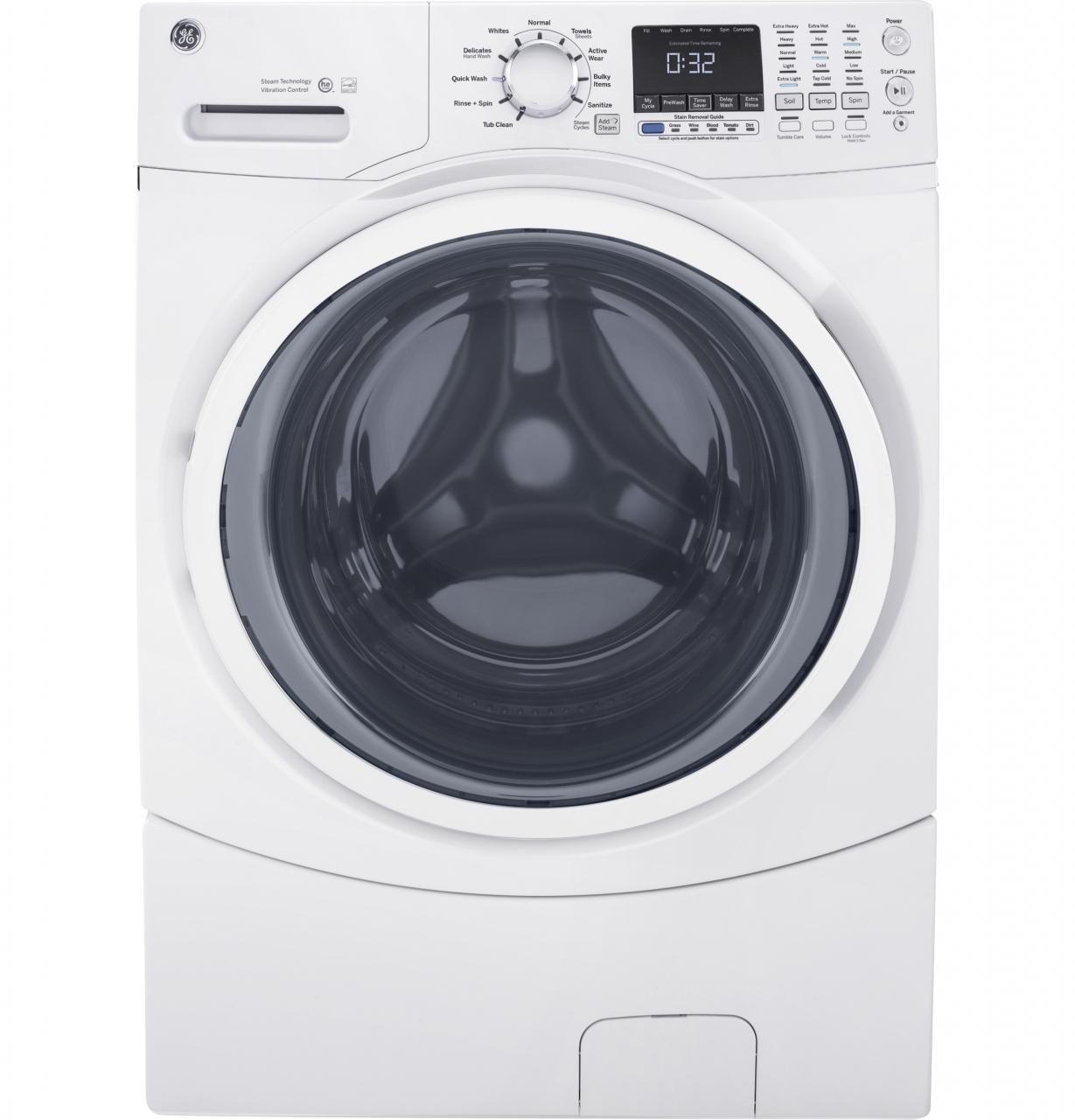 GE® Front Load Washer-White-GFW450SSKWW ...