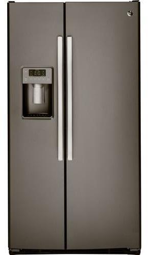 Ge 22 5 Cu Ft Side By Refrigerator Slate