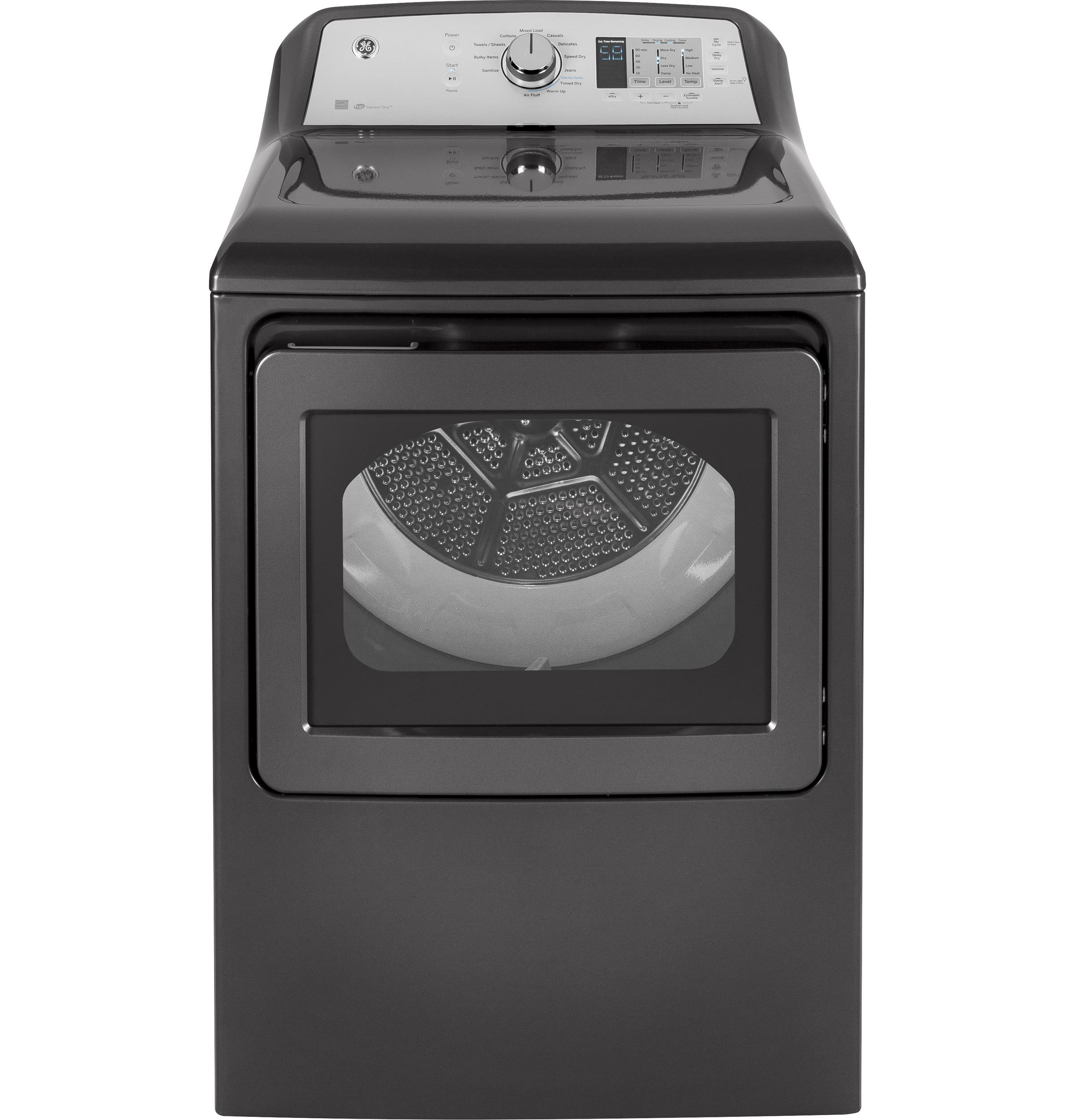 GE® Front Load Electric Dryer-Diamond Gray-GTD65GBPLDG