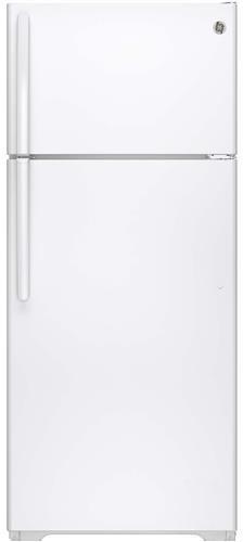 GE® 17 5 Cu  Ft  Top Freezer Refrigerator-White-GTS18CTH