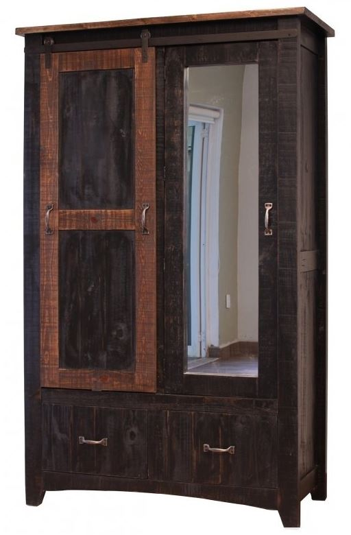 International Furniture 370 Pueblo Black Armoire IFD370ARMOIRE