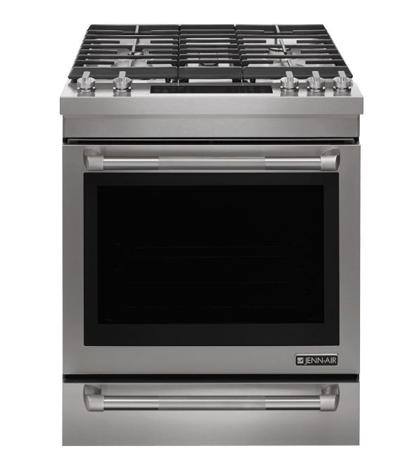 "Jenn Air Kitchen Appliance Packages: Jenn-Air® 30"" Slide In Dual Fuel Range-Stainless Steel"