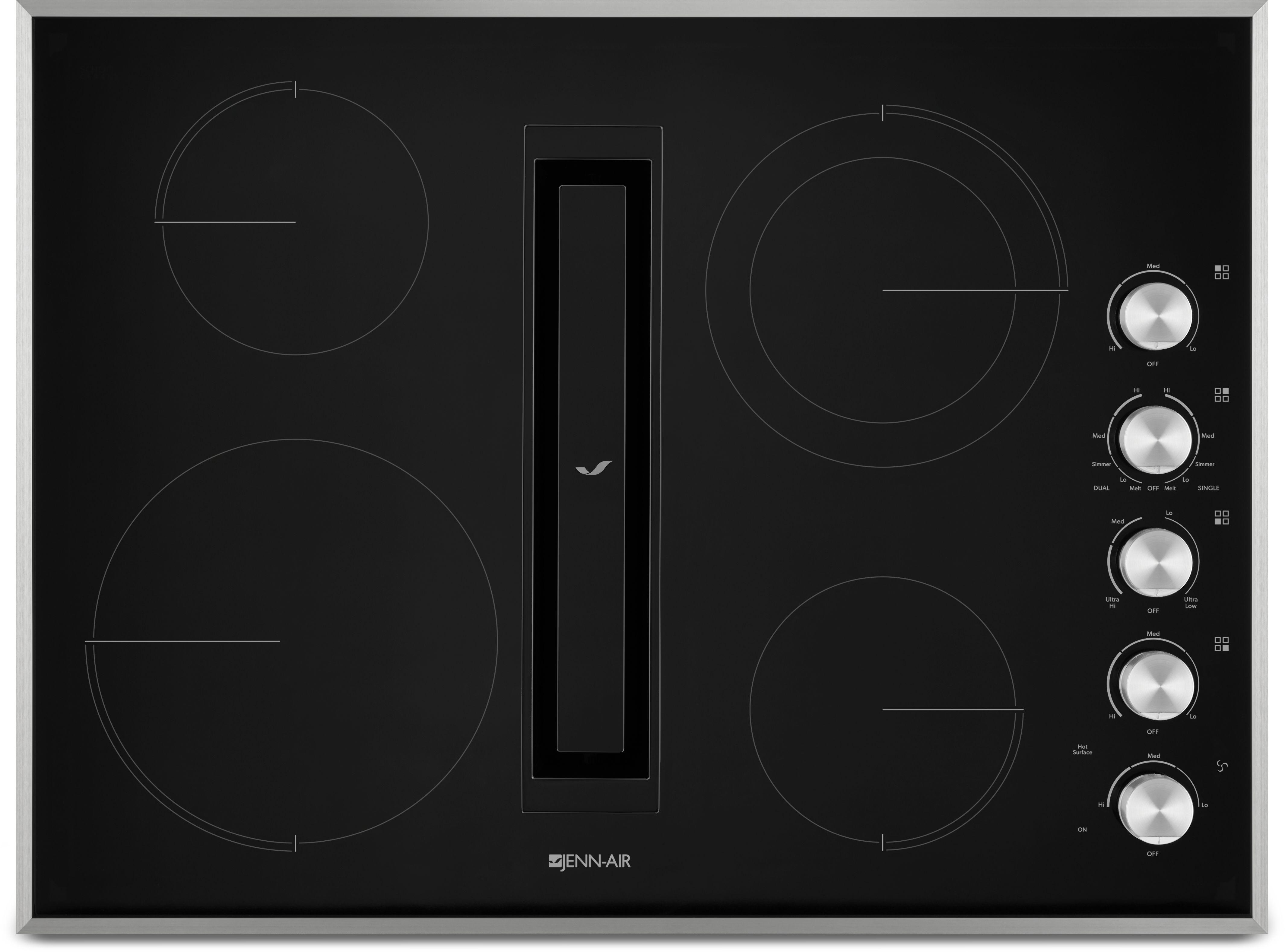"Jenn Air 30"" Electric Downdraft Cooktop JED3430G Appliances"