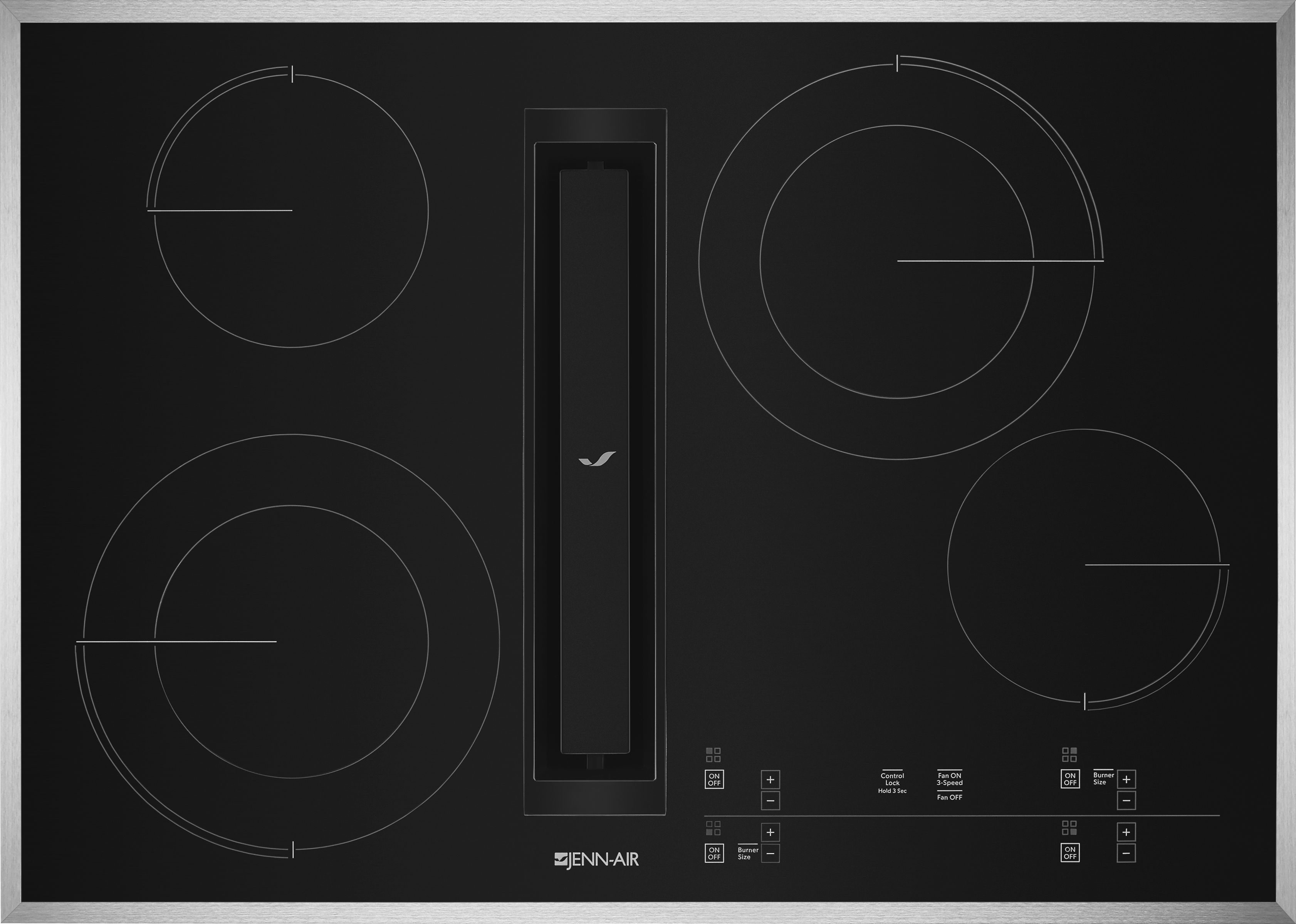 Jenn Air 30 Electric Downdraft Cooktop Stainless Steel Jed4430gs