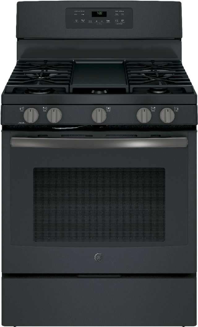 Ge 174 30 Quot Free Standing Gas Convection Range Black Slate
