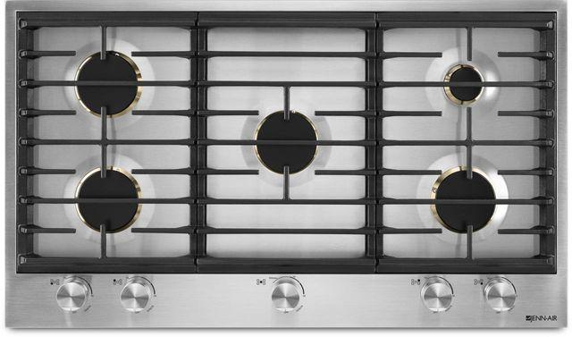 Jennair 36 Gas Cooktop Stainless Steel Jgc3536gs Manhattan Appliance Sleep Source Inc