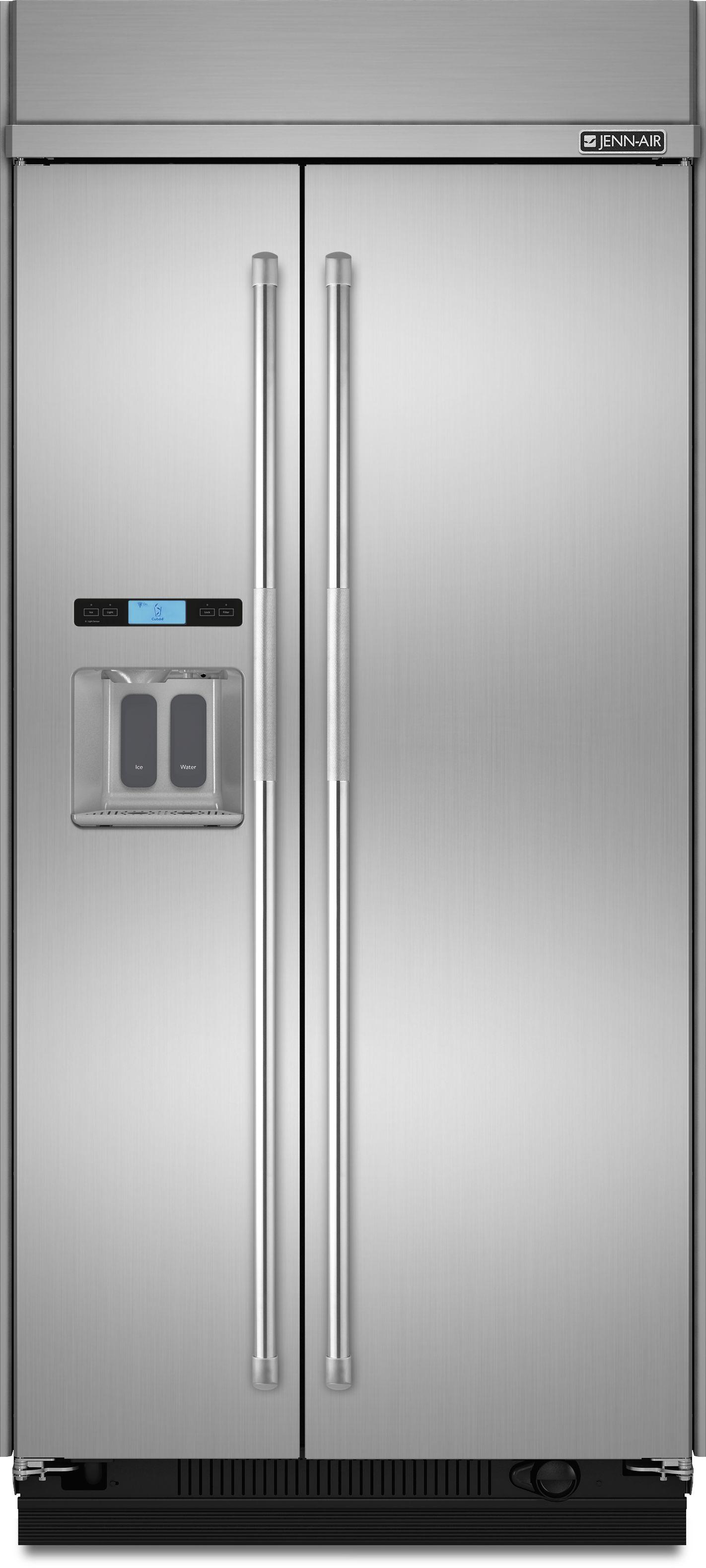 Jenn Air 174 25 02 Cu Ft Built In Side By Side Refrigerator