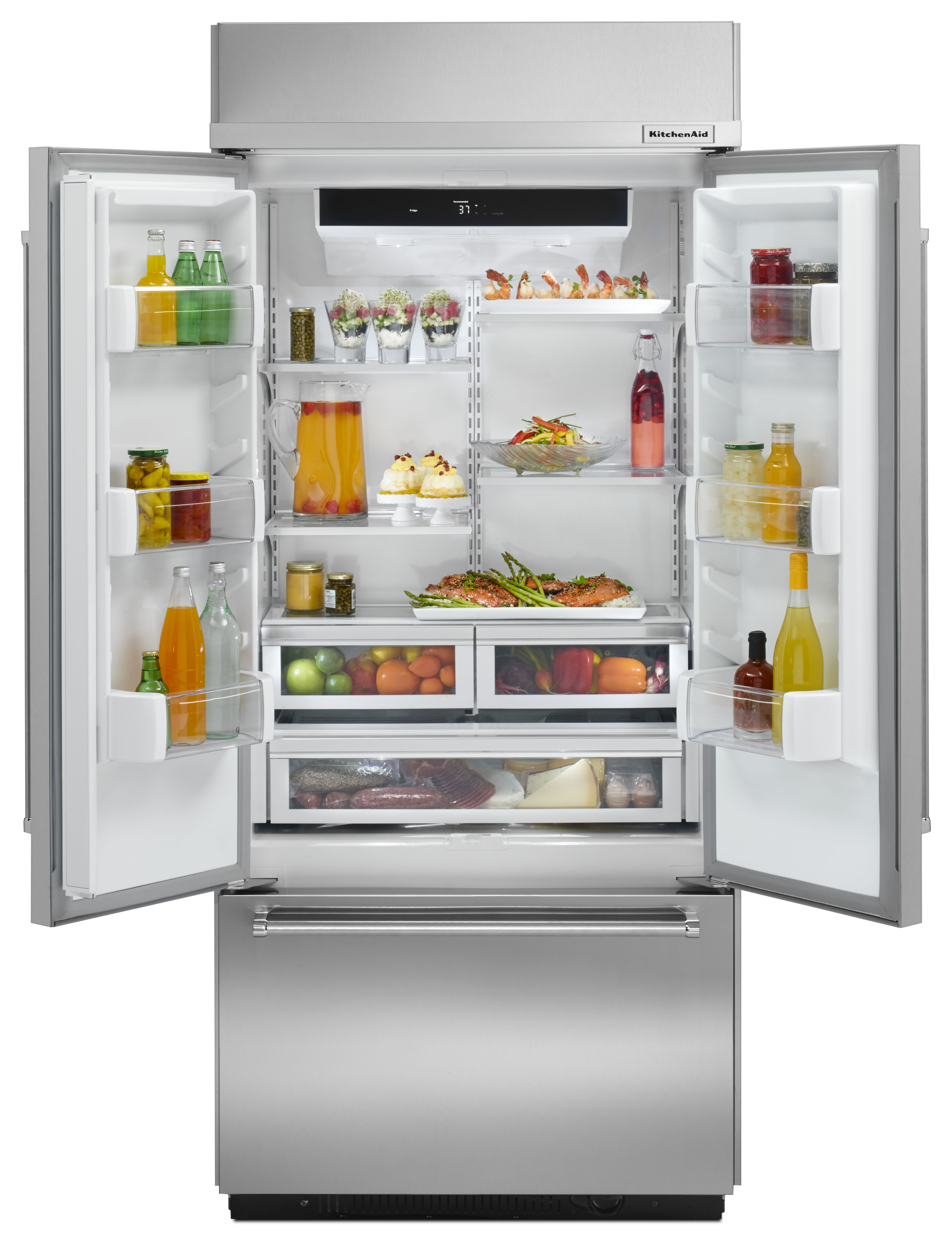 Kitchen Aid 20 5 Cu  Ft  French Door Refrigerator-Stainless
