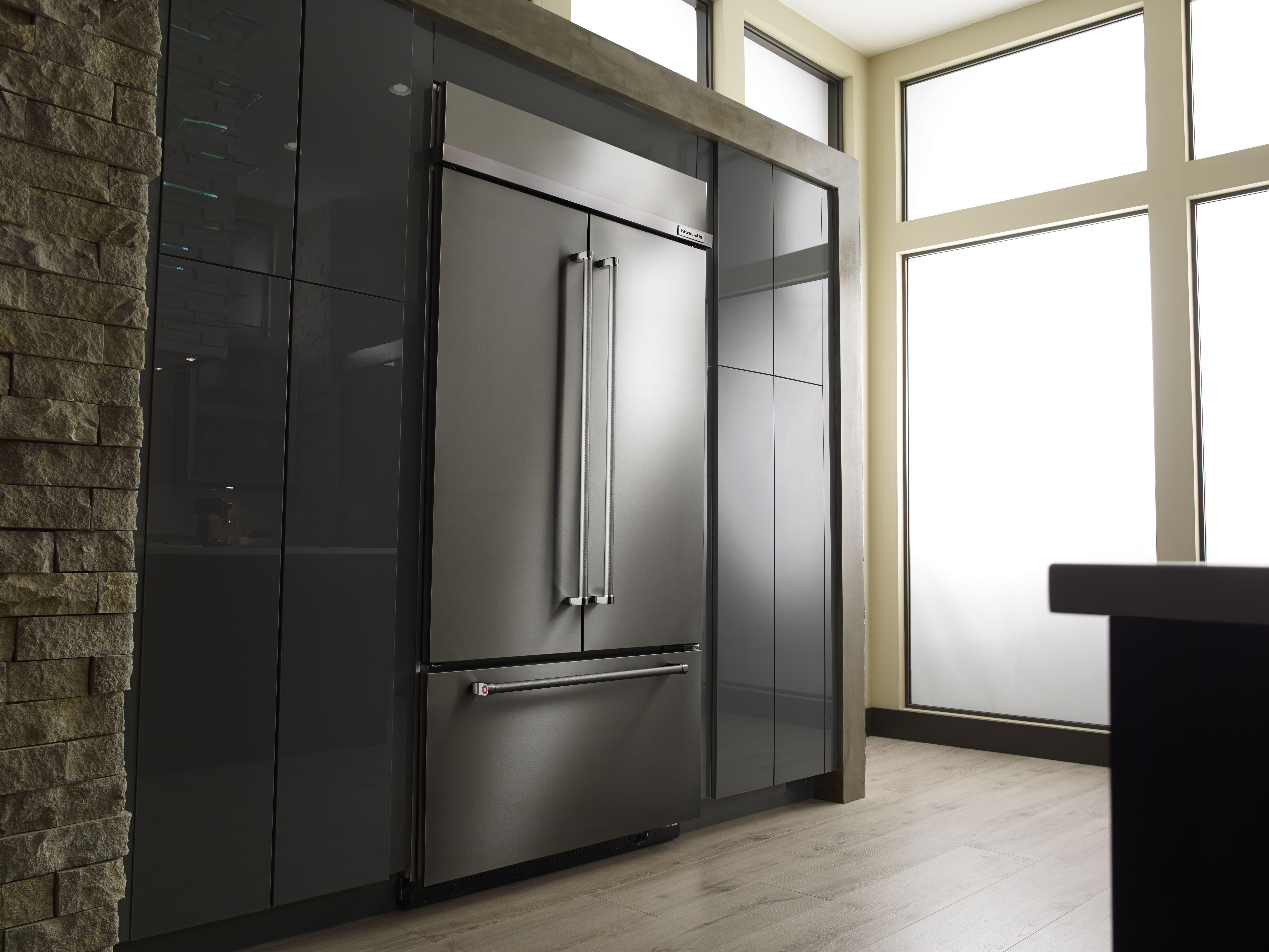 KitchenAid® 25 3 Cu  Ft  Built In French Door Refrigerator
