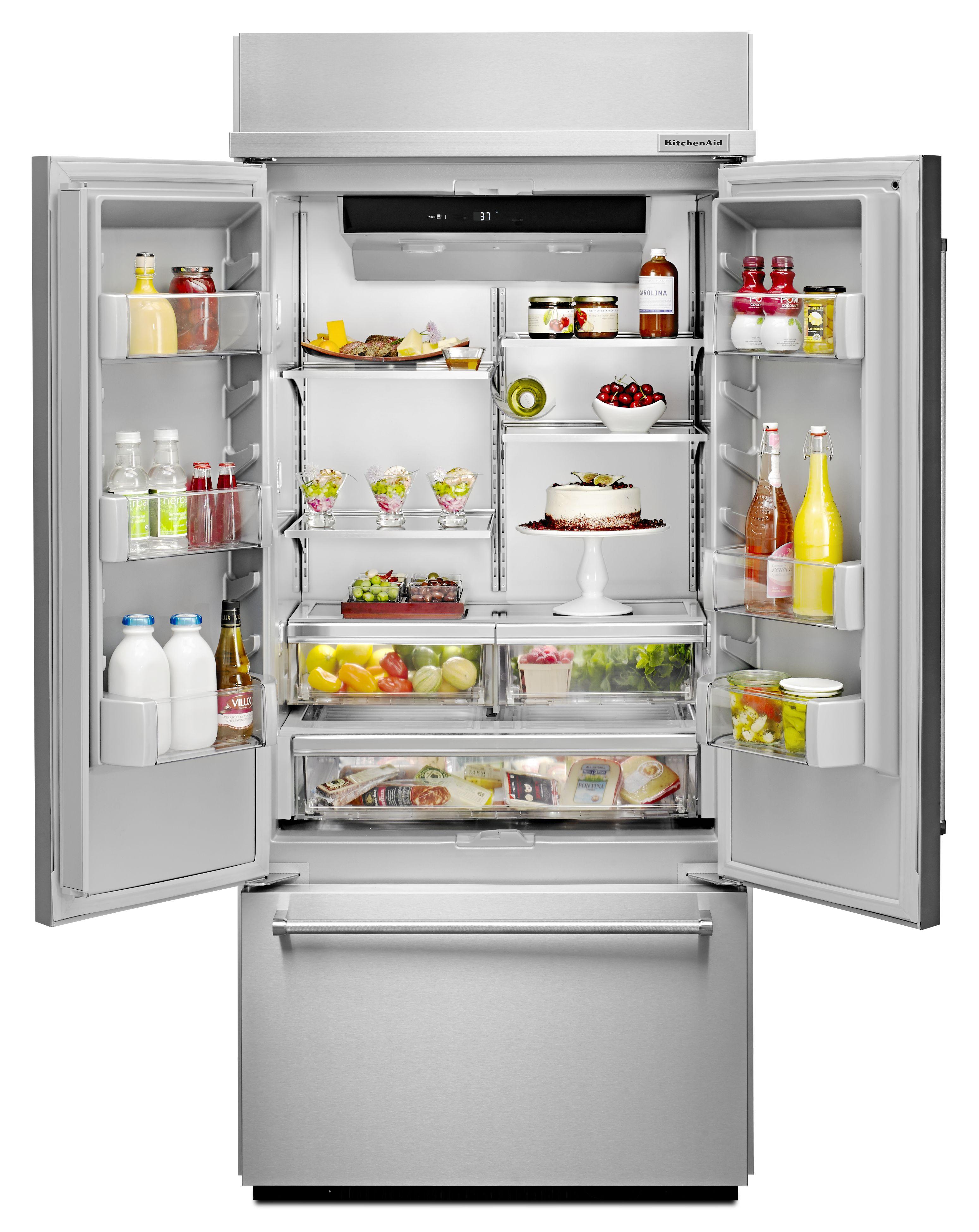 KitchenAid® 20 8 Cu  Ft  Built In French Door Refrigerator