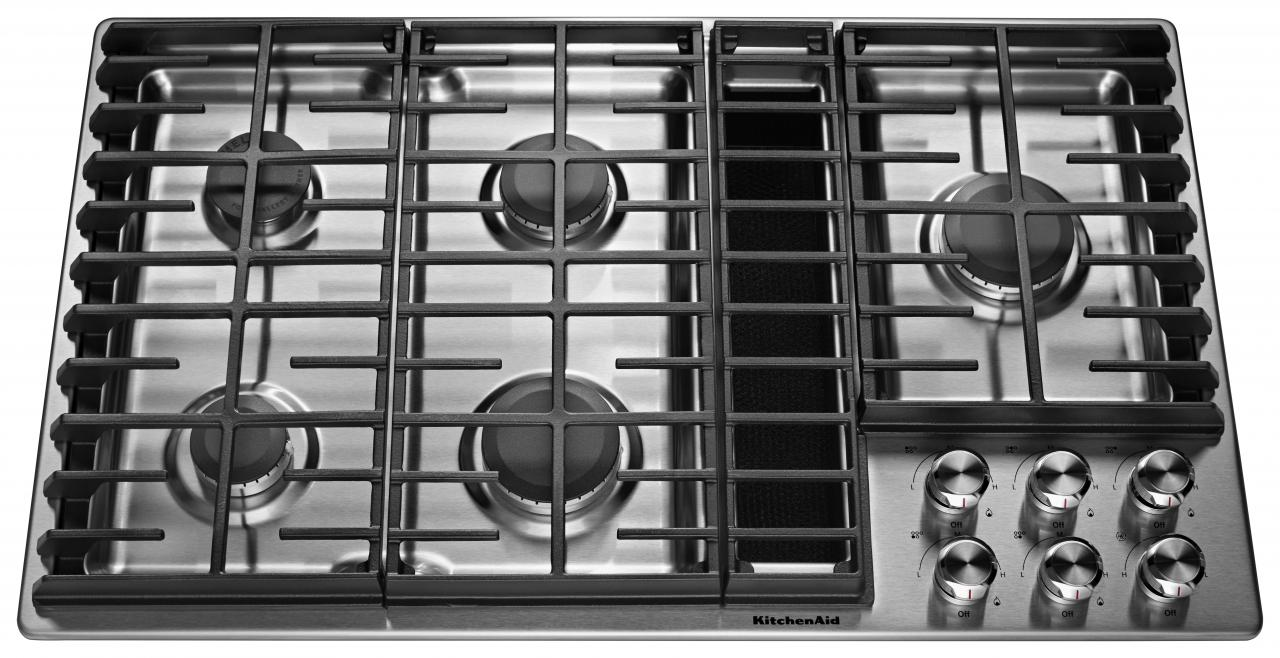Reviews For Kitchenaid 36 Stainless Steel Gas Downdraft