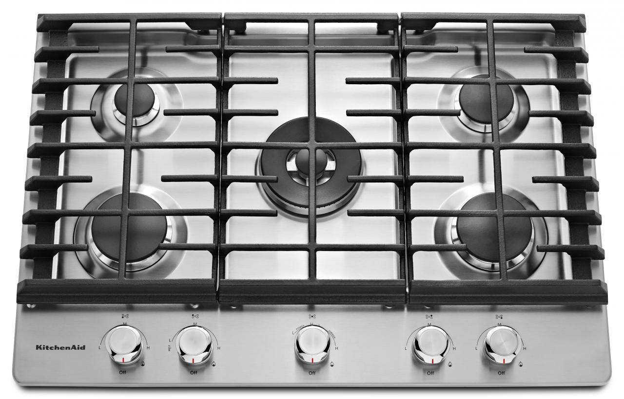 KitchenAid® 30'' Gas Cooktop-Stainless Steel-KCGS550ESS