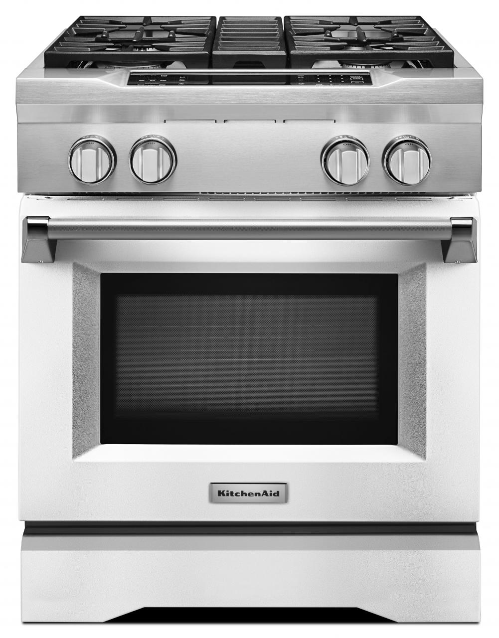 KitchenAid® 30\'\' Dual Fuel Freestanding Range-KDRS407VMW