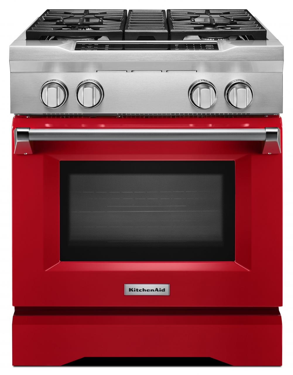 Kitchenaid Commercial Style 30 Pro Dual Fuel Range Signature Red Kdrs407vsd
