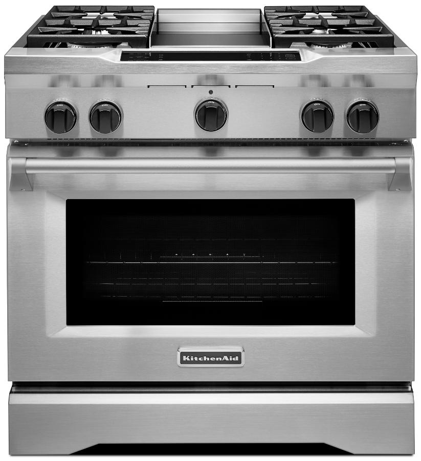Kitchenaid Commercial Style 36 Pro Dual Fuel Range Kdrs463v