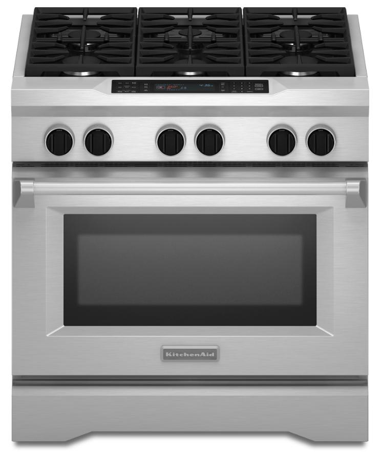 Kitchenaid Commercial Style 36 Pro Style Dual Fuel Range Kdrs467v