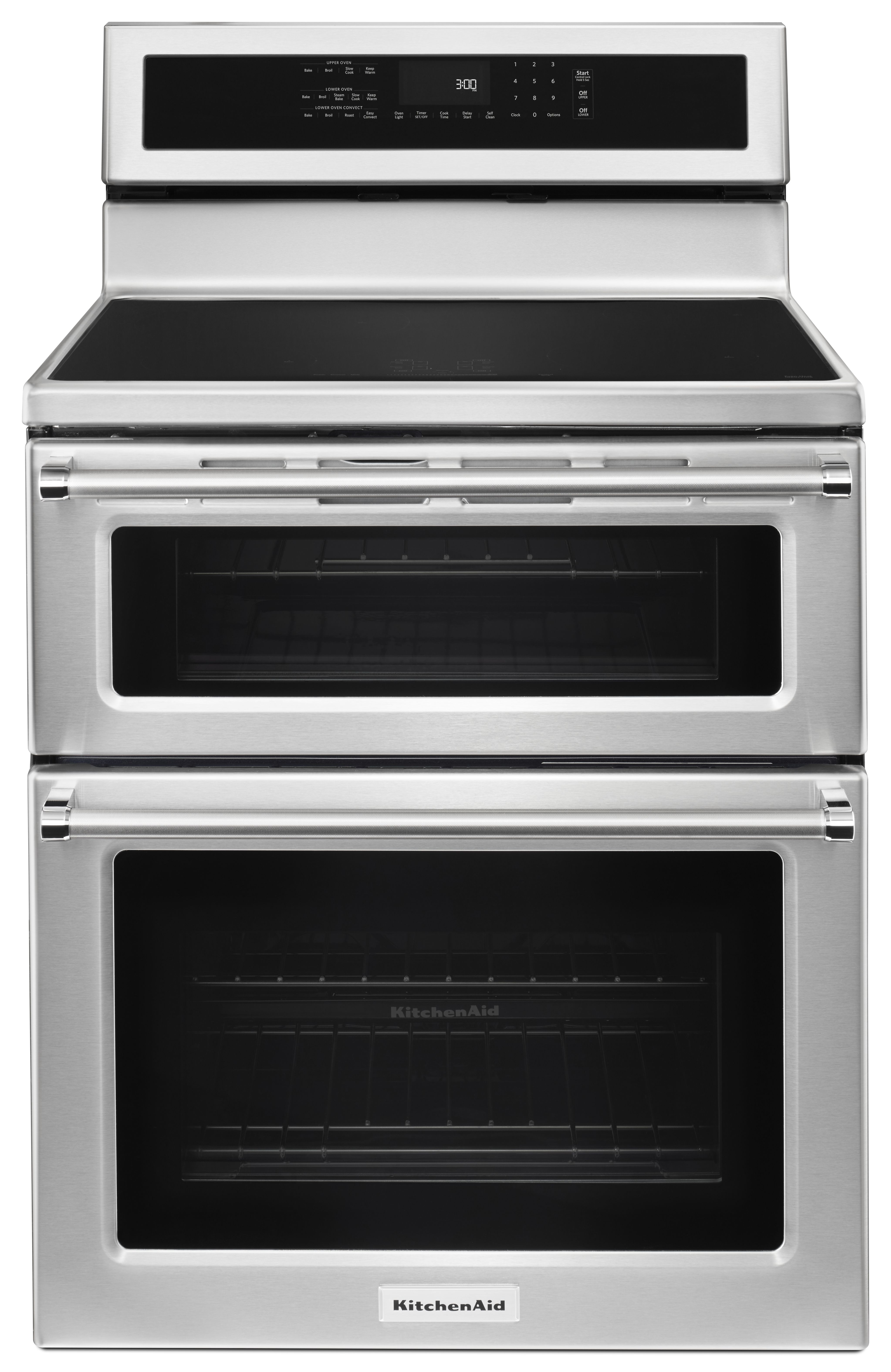 kitchenaid 30 free standing electric double oven range stainless steel kfid500ess - Kitchen Aid Oven