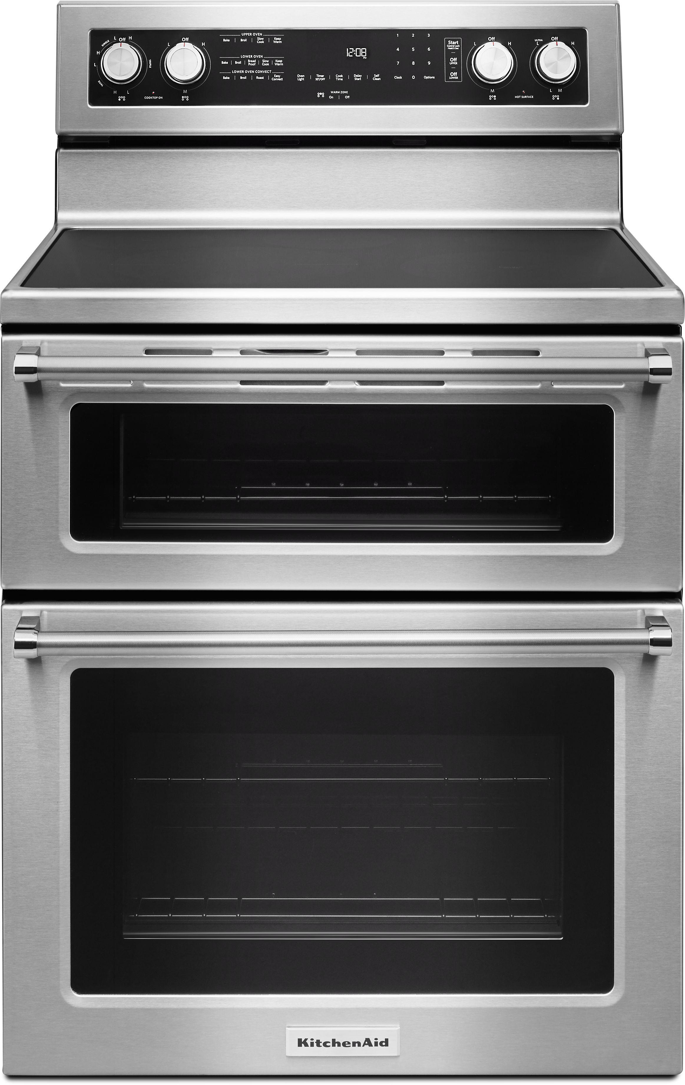 Kitchenaid 30 Free Standing Electric Double Oven Range Kfed500e