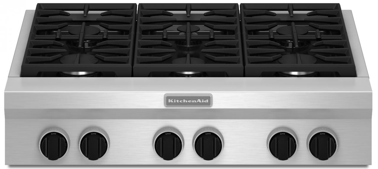 Kitchenaid 36 Gas Rangetop Stainless Steel Kgcu467vss