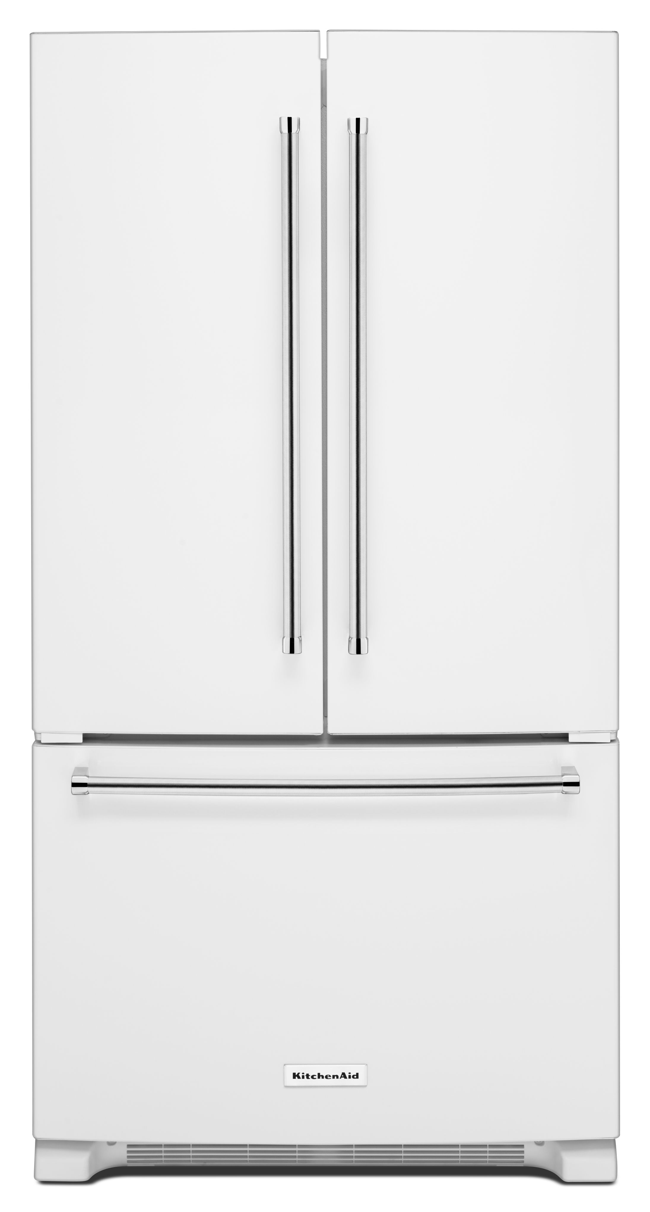 KitchenAid® 20.0 Cu. Ft. Counter Depth French Door Refrigerator White KRFC300EWH  ...