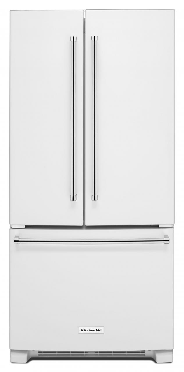 KitchenAid® 22 Cu. Ft. White French Door Bottom Freezer  Refrigerator-KRFF302EWH