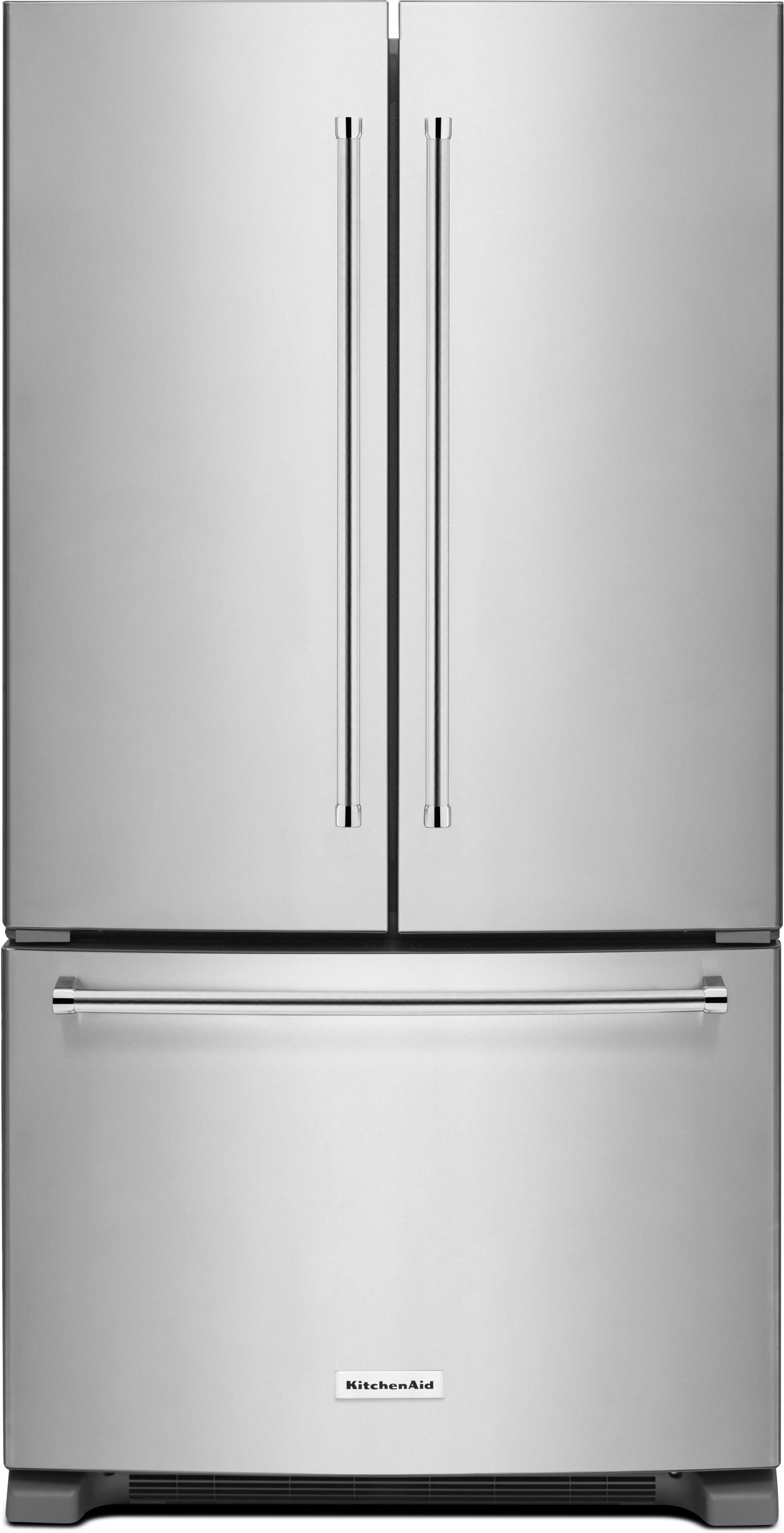 KitchenAid® 25.0 Cu. Ft. French Door Refrigerator Stainless  Steel KRFF305ESS ...