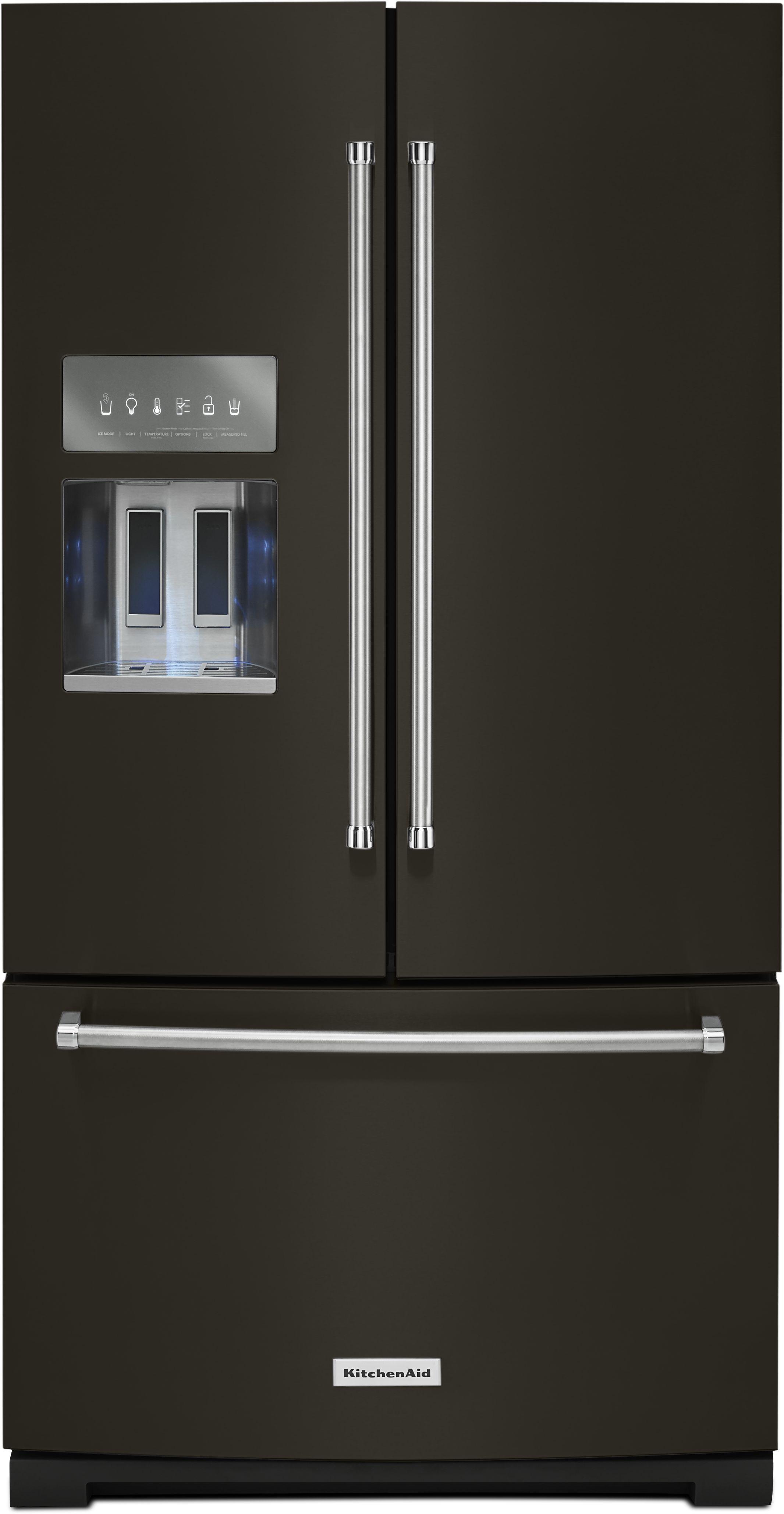KitchenAid® 26.8 Cu. Ft. Standard Depth French Door Refrigerator Black  Stainless