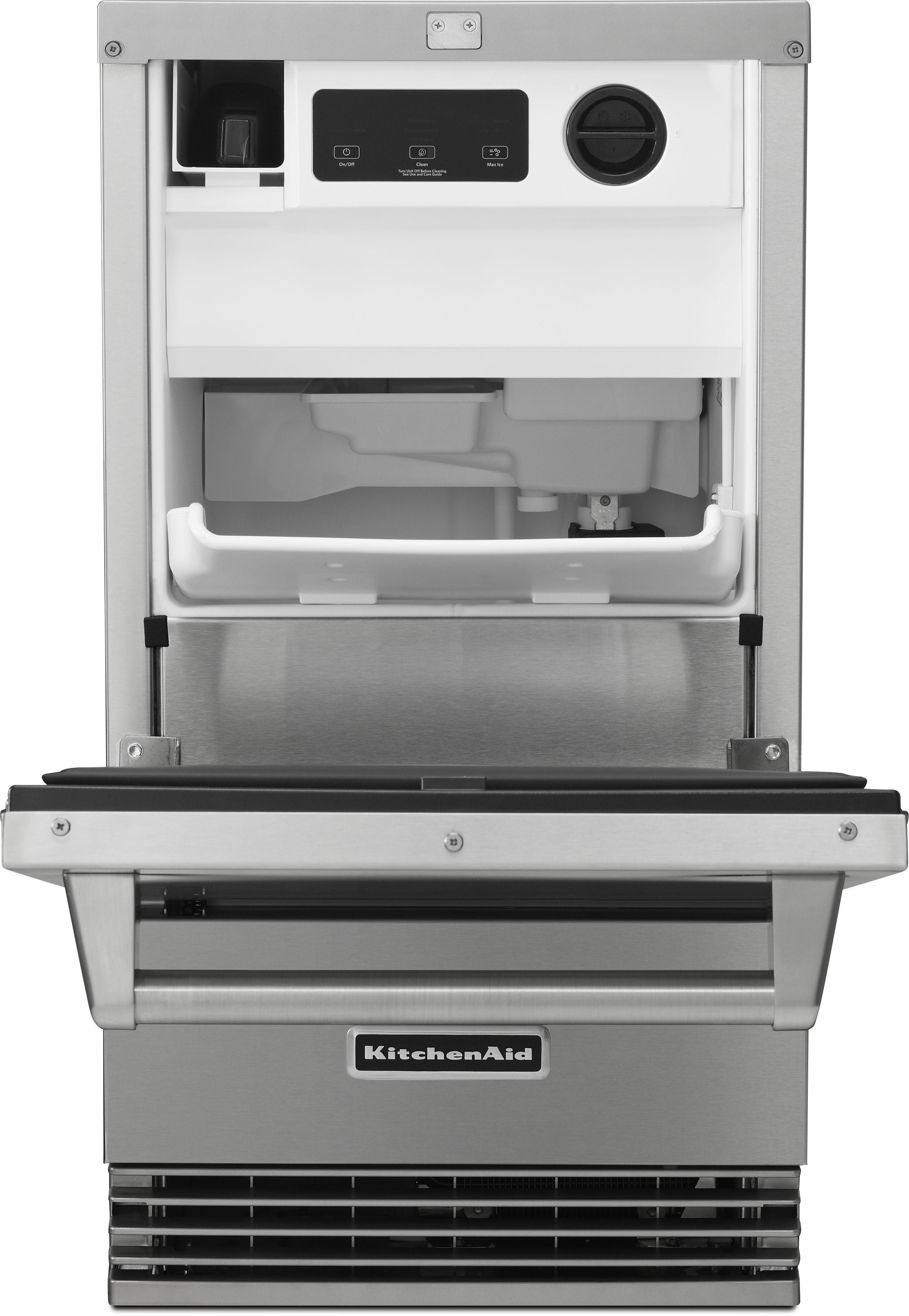 Kitchenaid 18 Outdoor Ice Maker Stainless Steel Kuio18nnzs