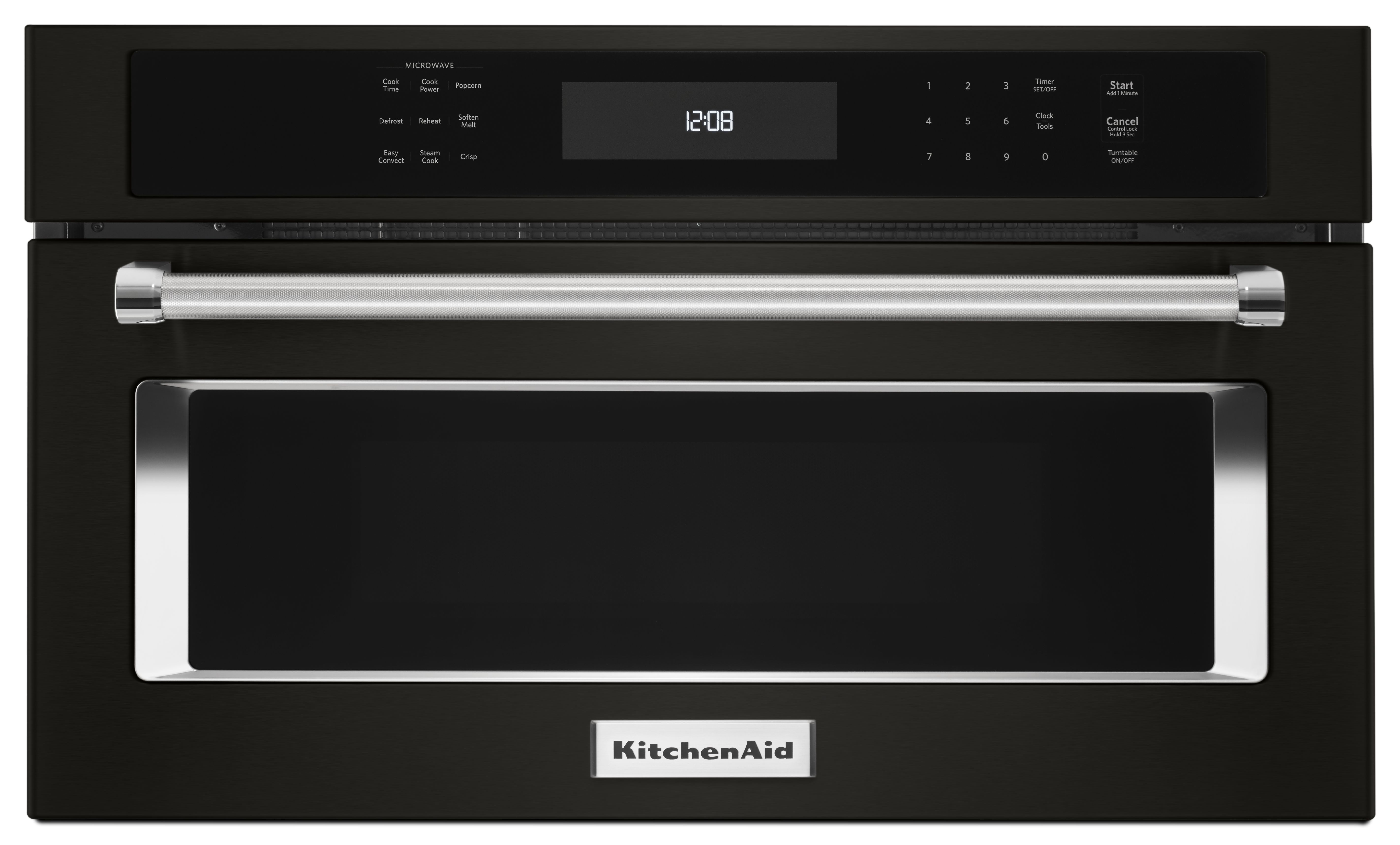 Kitchenaid Black Built In Microwave Oven Black Stainless Steel