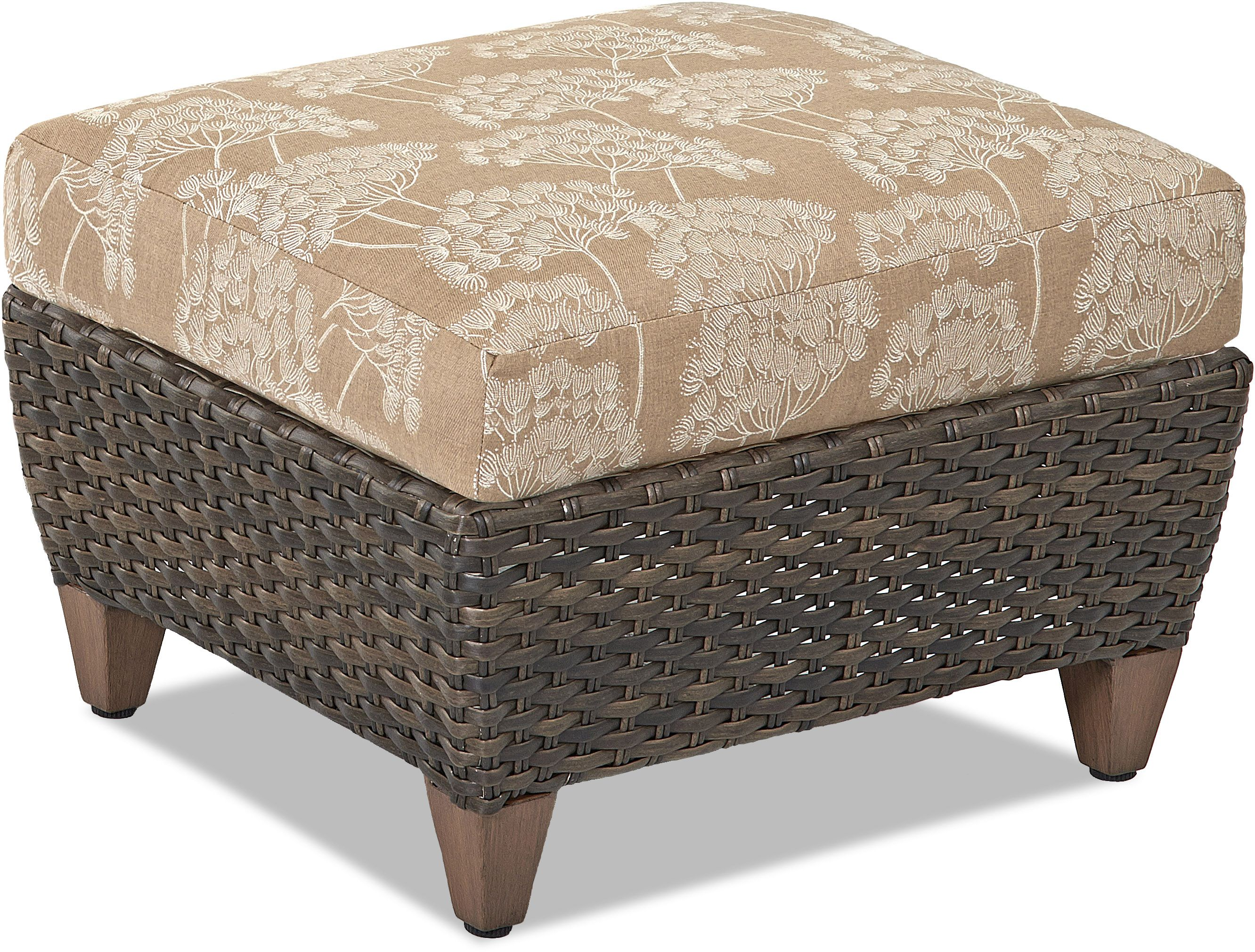 Klaussner® Outdoor Sycamore Ottoman-W5100 OTTO   Woods Household