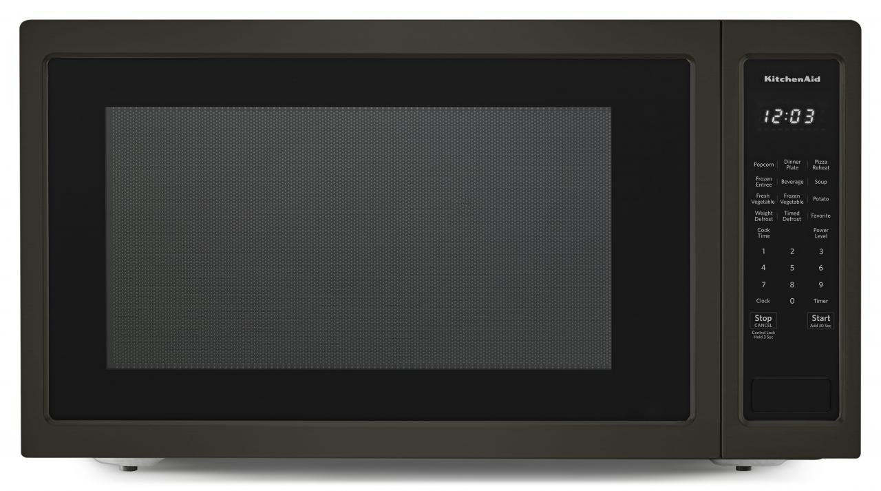 Kitchenaid Countertop Microwave Oven Black Stainless Steel Kmcs3022gbs