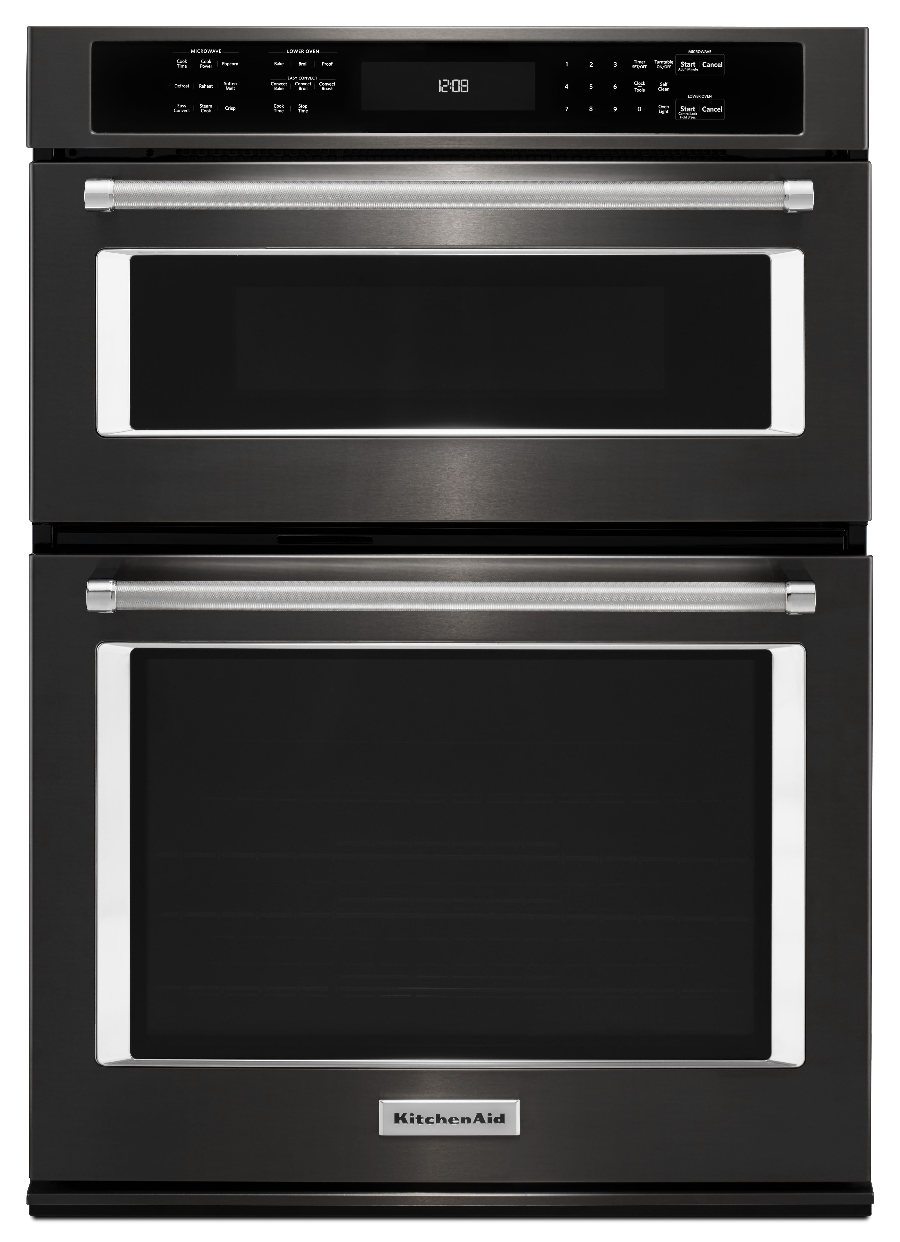Kitchenaid 30 Electric Oven Microwave Combo Built In Black Stainless Steel