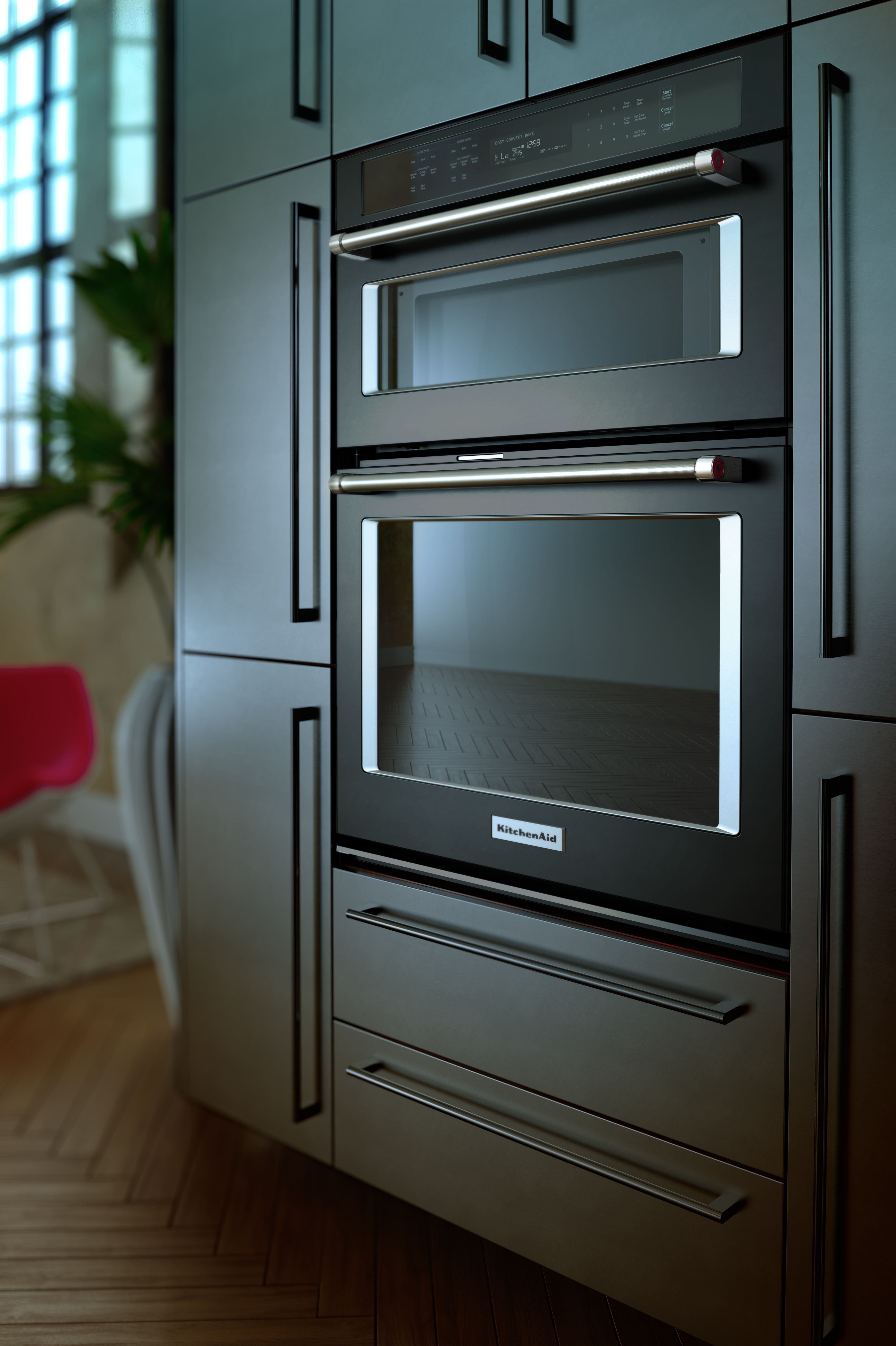 Kitchenaid Black 30 Electric Oven Microwave Combo Built In Black