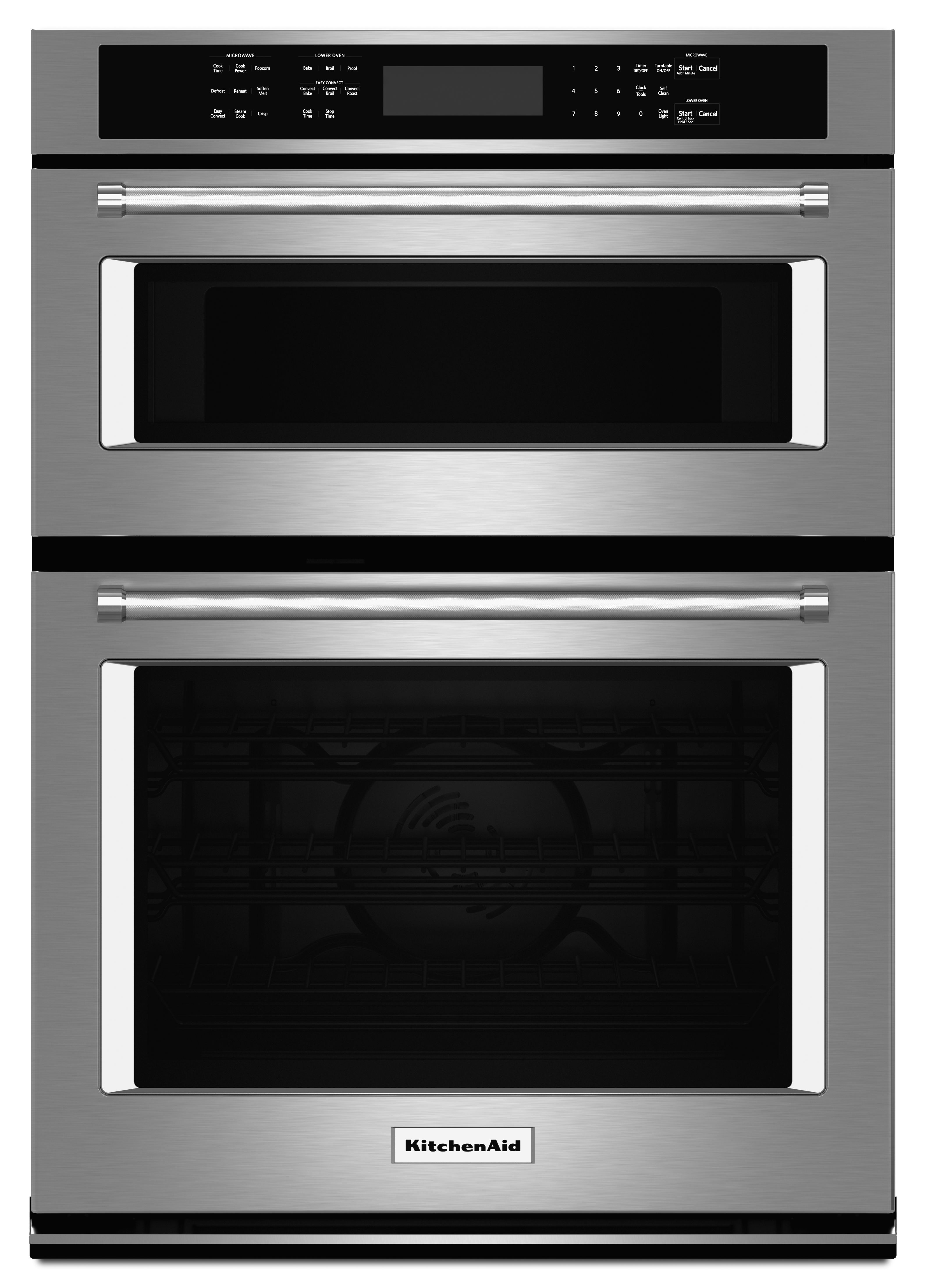 kitchenaid 27 electric oven microwave combo built in stainless rh jjglossappliance com