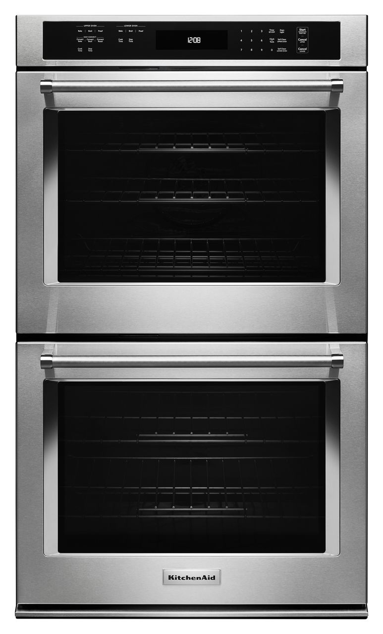 kitchenaid 30 electric double oven built in stainless steel rh schroedersappliance com