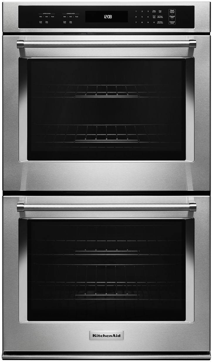 kitchenaid 27 electric double oven built in stainless steel kodt107ess